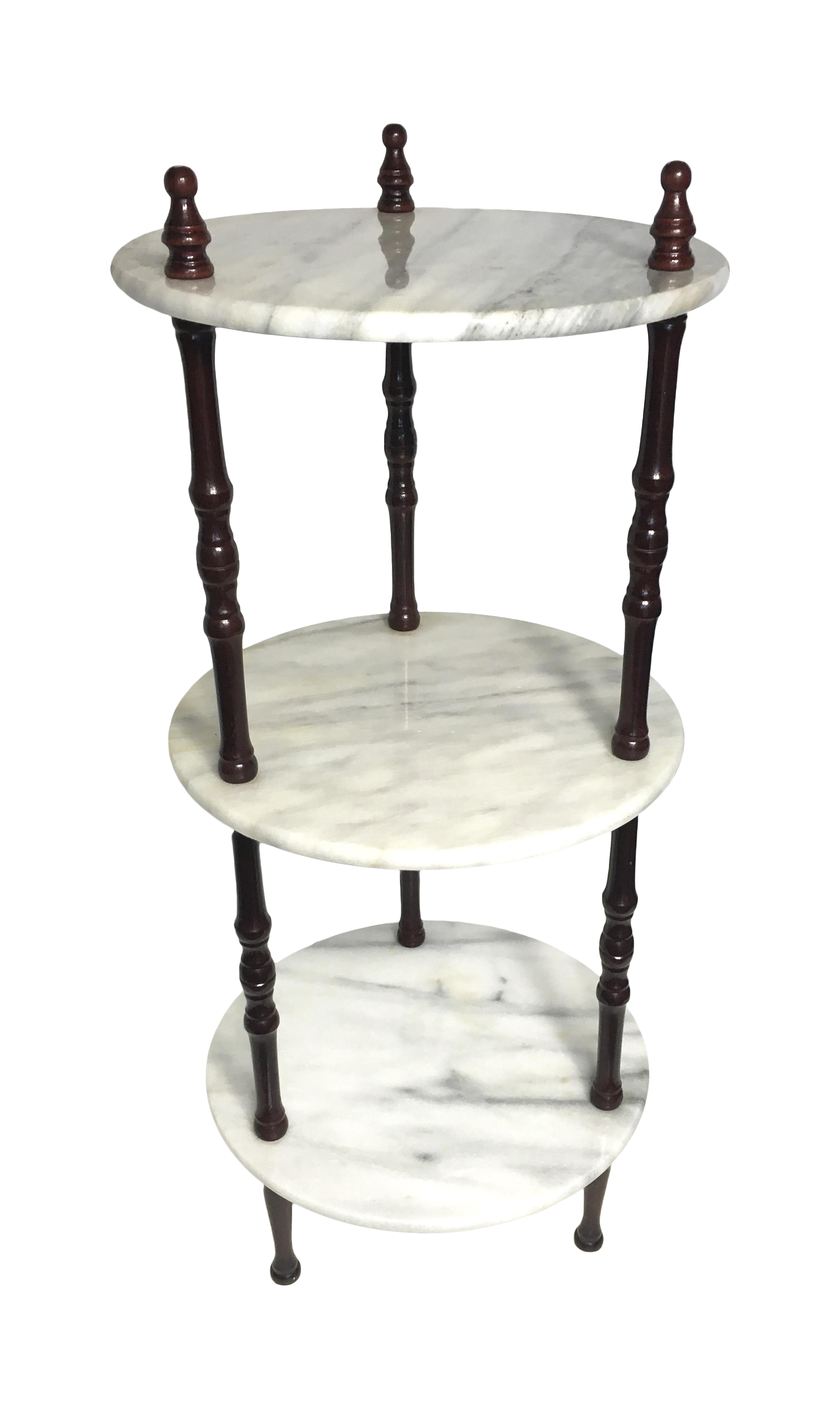 3 tier plant stand mid century 3 tier marble table plant stand chairish 10442