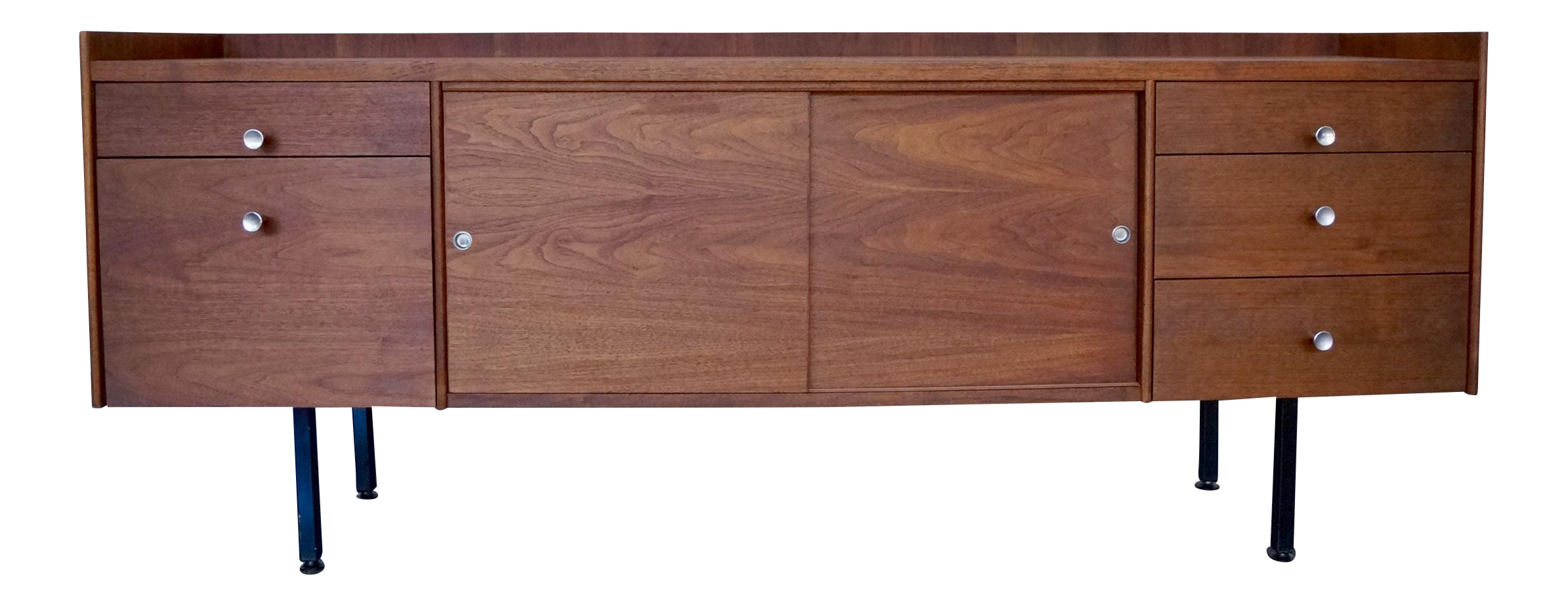 Mid century modern walnut credenza chairish for 0co om cca 9 source table