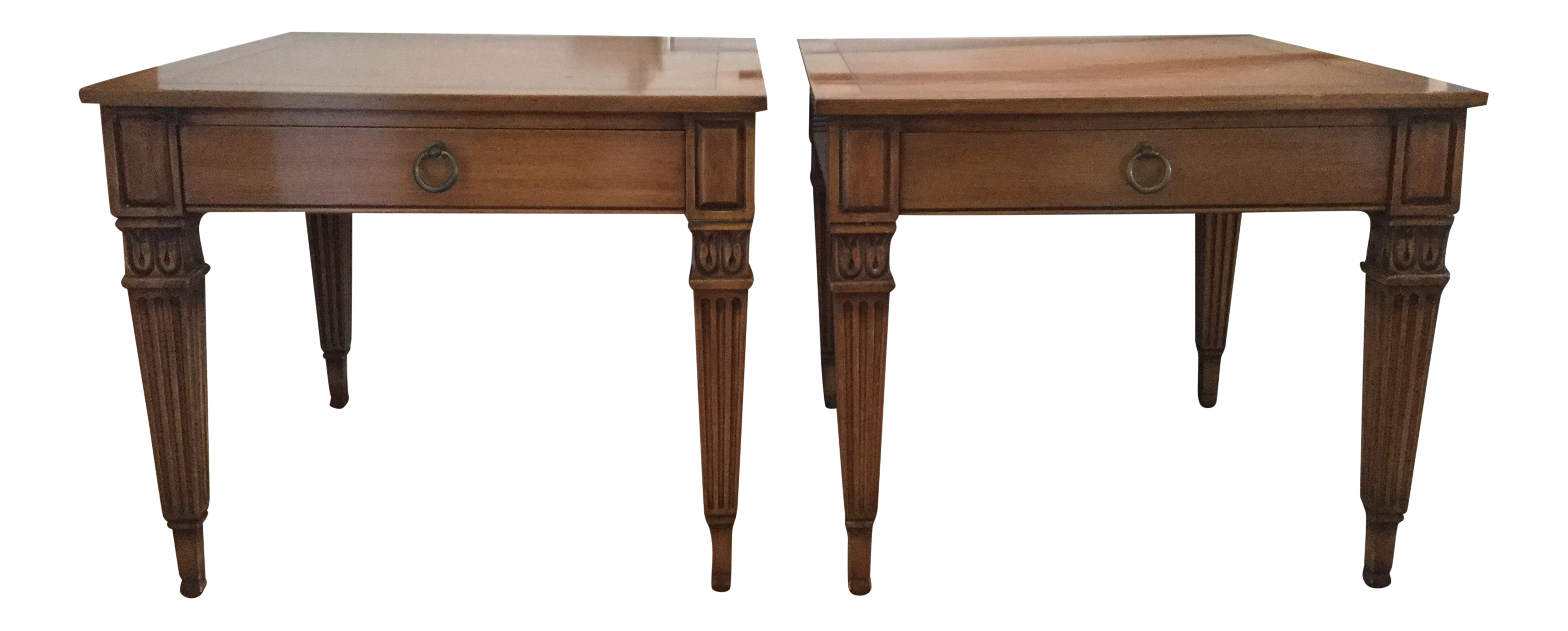 Vintage Baker Furniture Side Tables A Pair Chairish