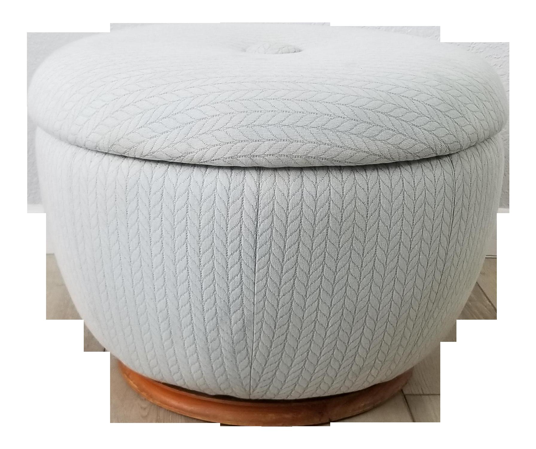 Mid Century Adrian Pearsall Style Swivel Pouf Round Ottoman Chairish