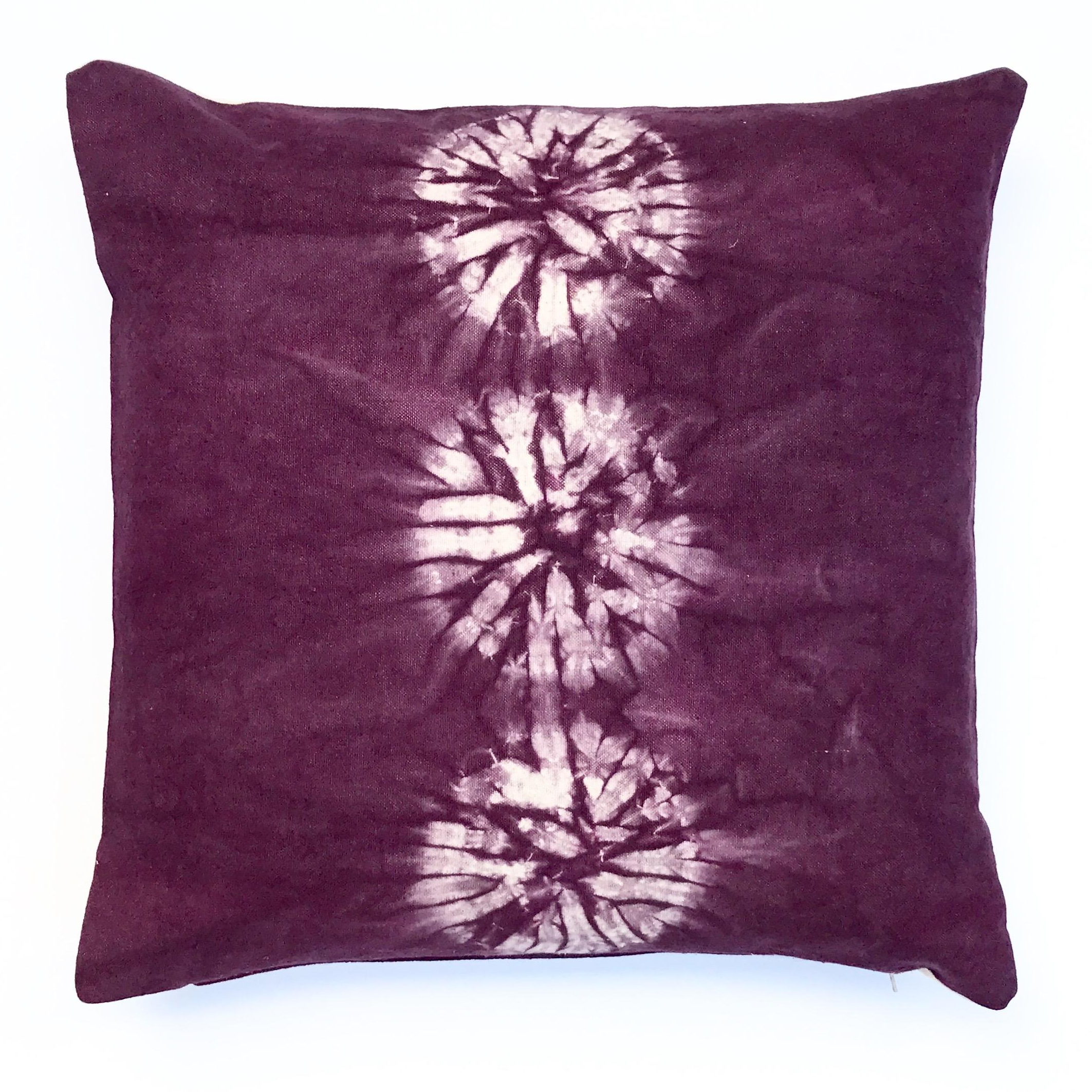 Circle Design Throw Pillows : Black Cherry Throw Pillow With Nui Shibori Circle Design Chairish