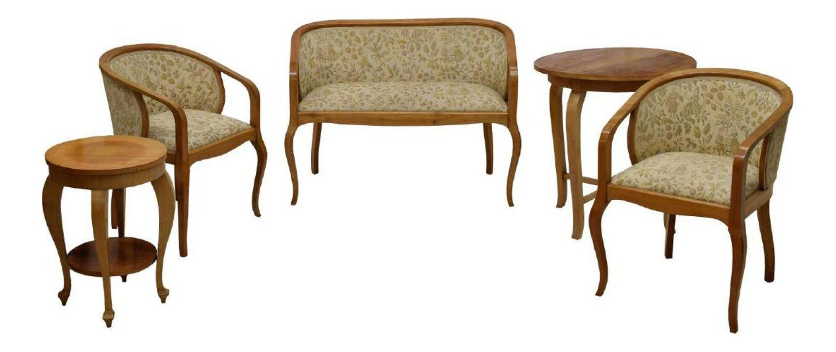 Art Nouveau Parlor Furniture Set Of 5 Chairish