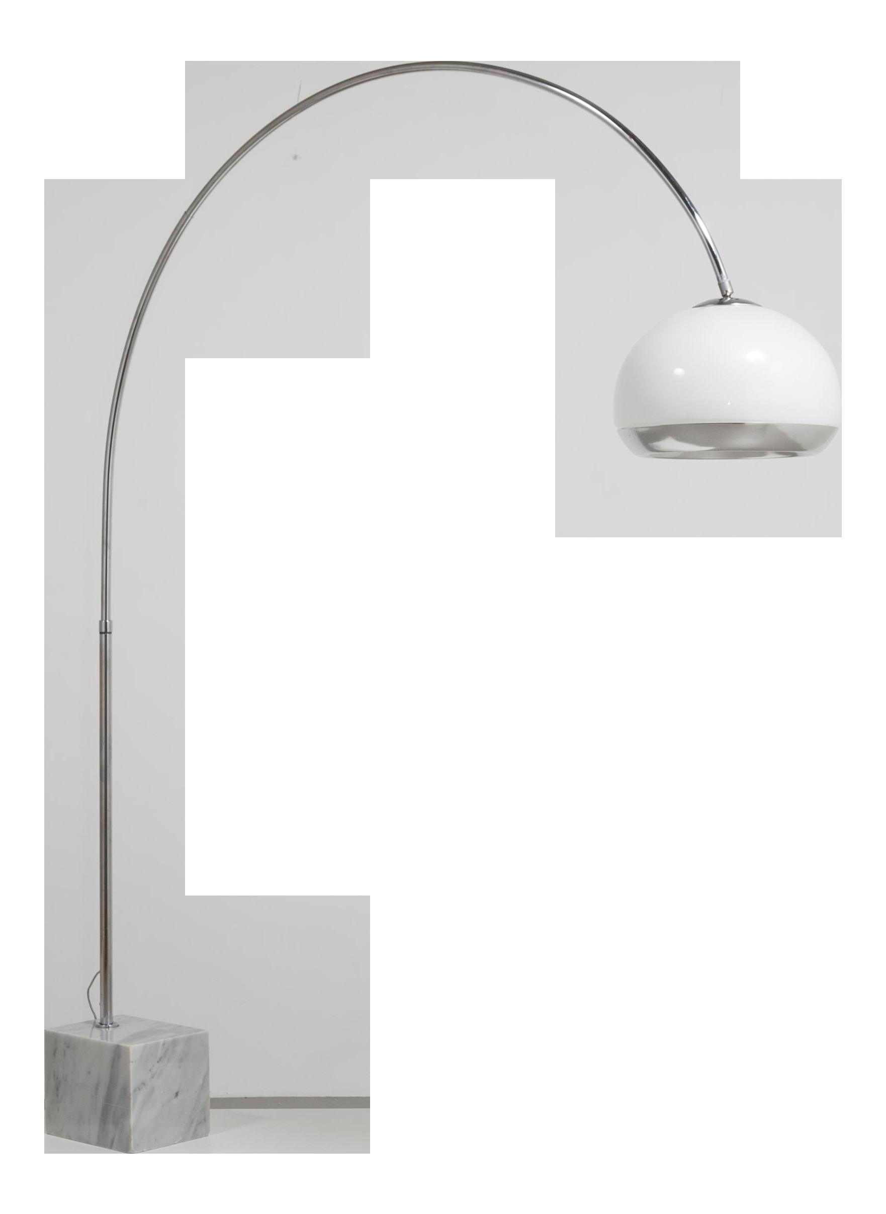 Excellent An Original Harvey Guzzini for Laurel Arco Floor Lamp ... for Original Arco Lamp  146hul