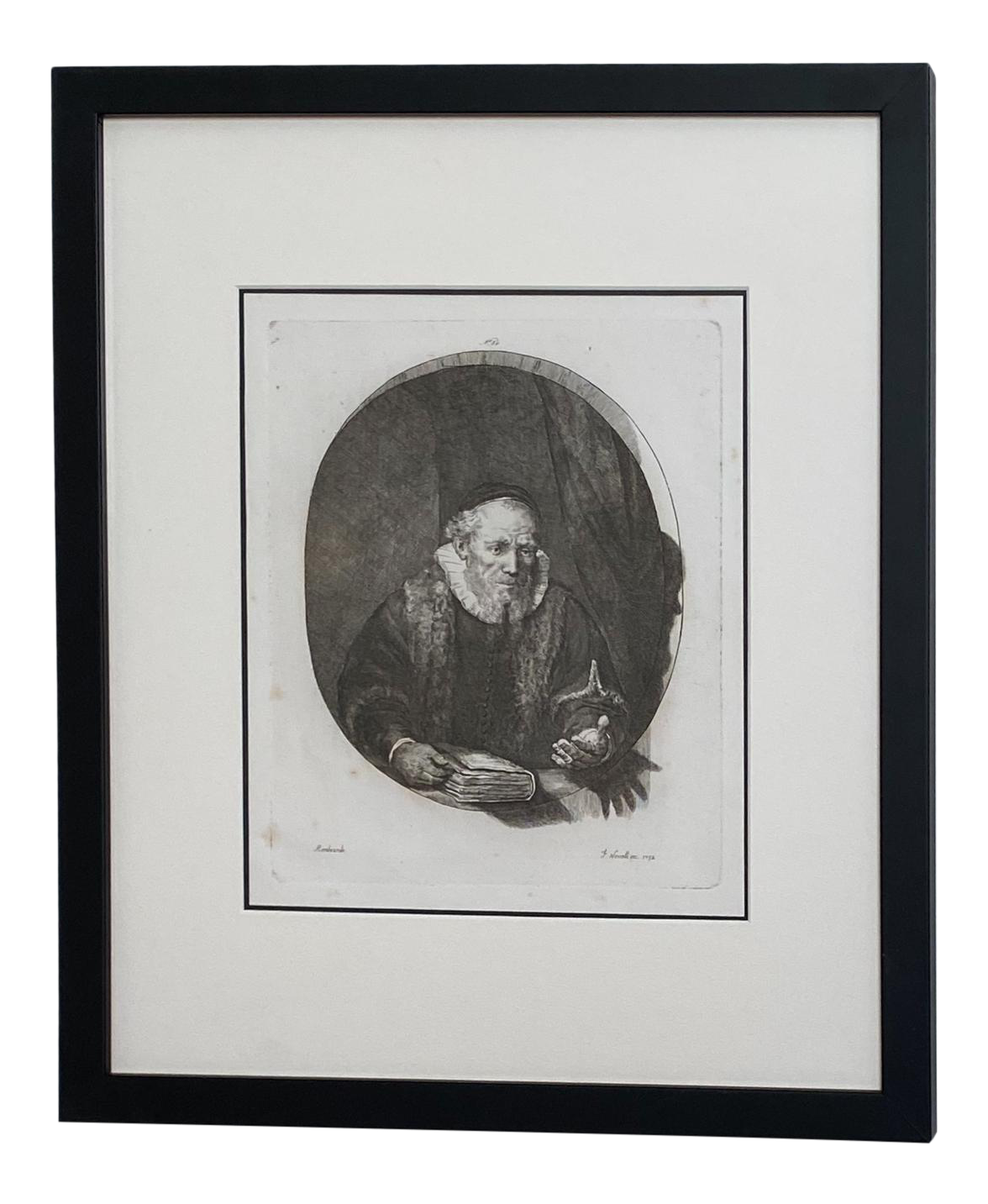 Late 18th Century Rembrandt Etching 30 By Francesco Novelli Chairish