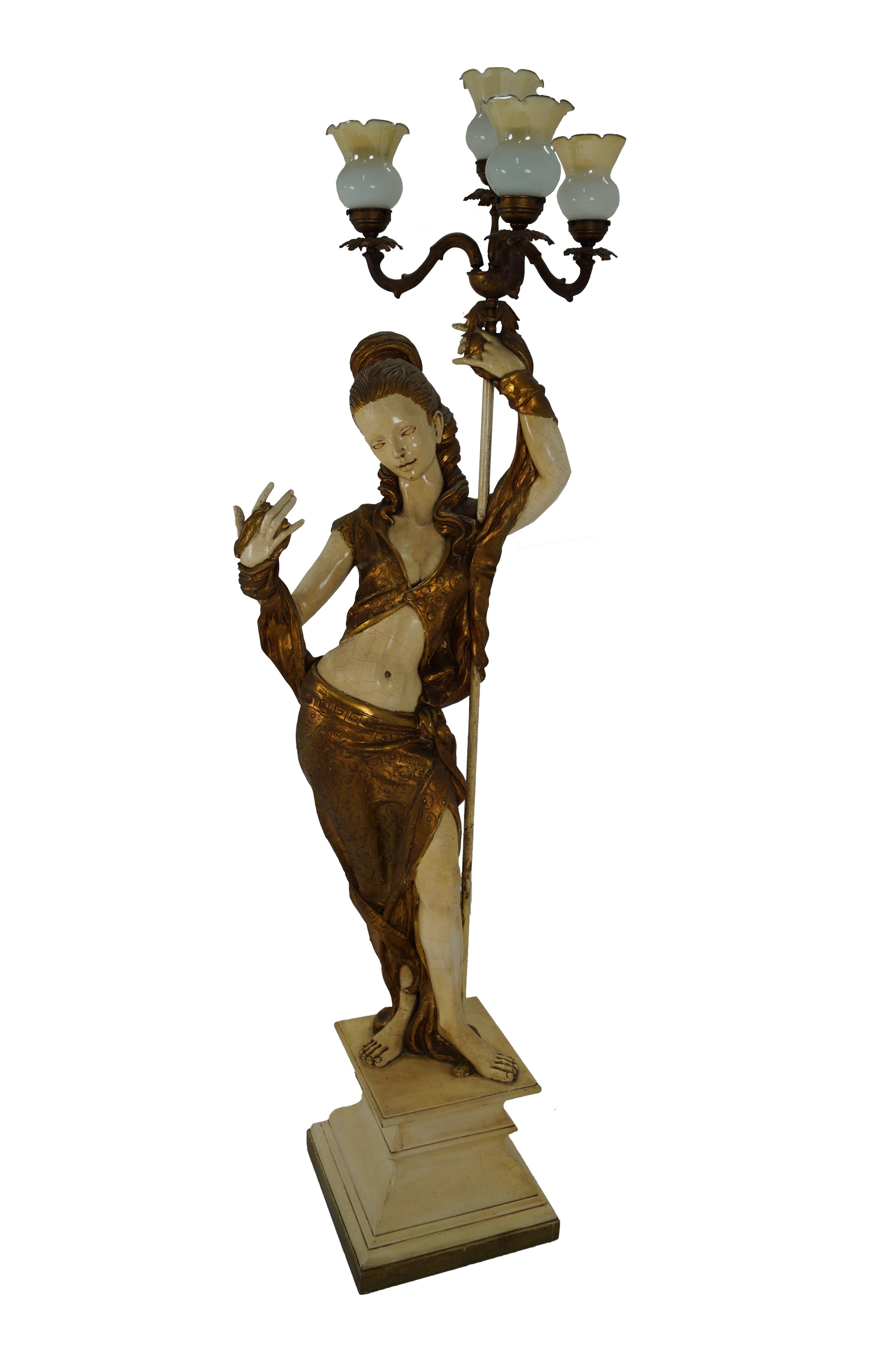 product woman studio torchiere lamp figural chairish arp statue floor