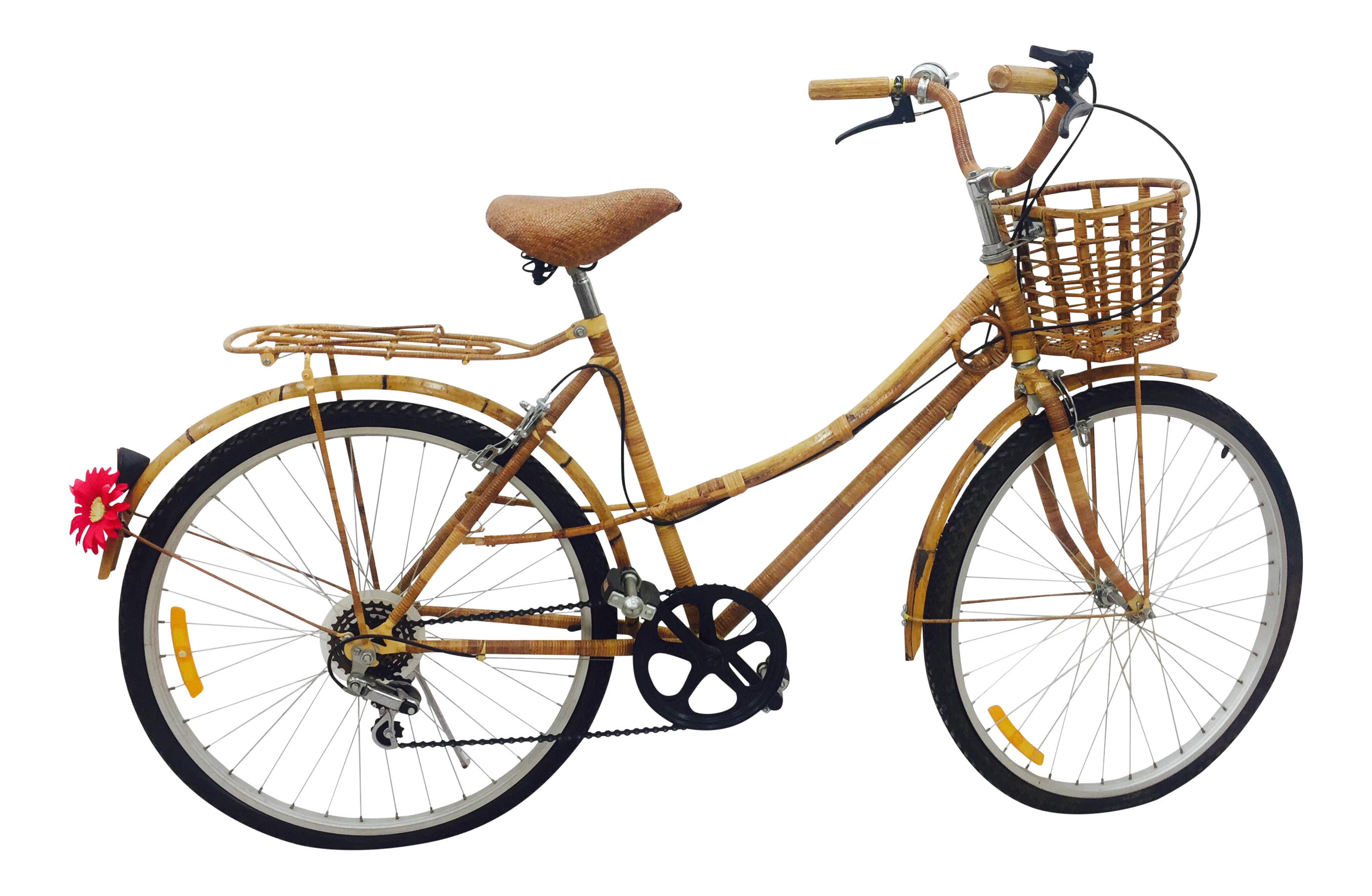 Vintage Bamboo Bicycle - Full Size | Chairish