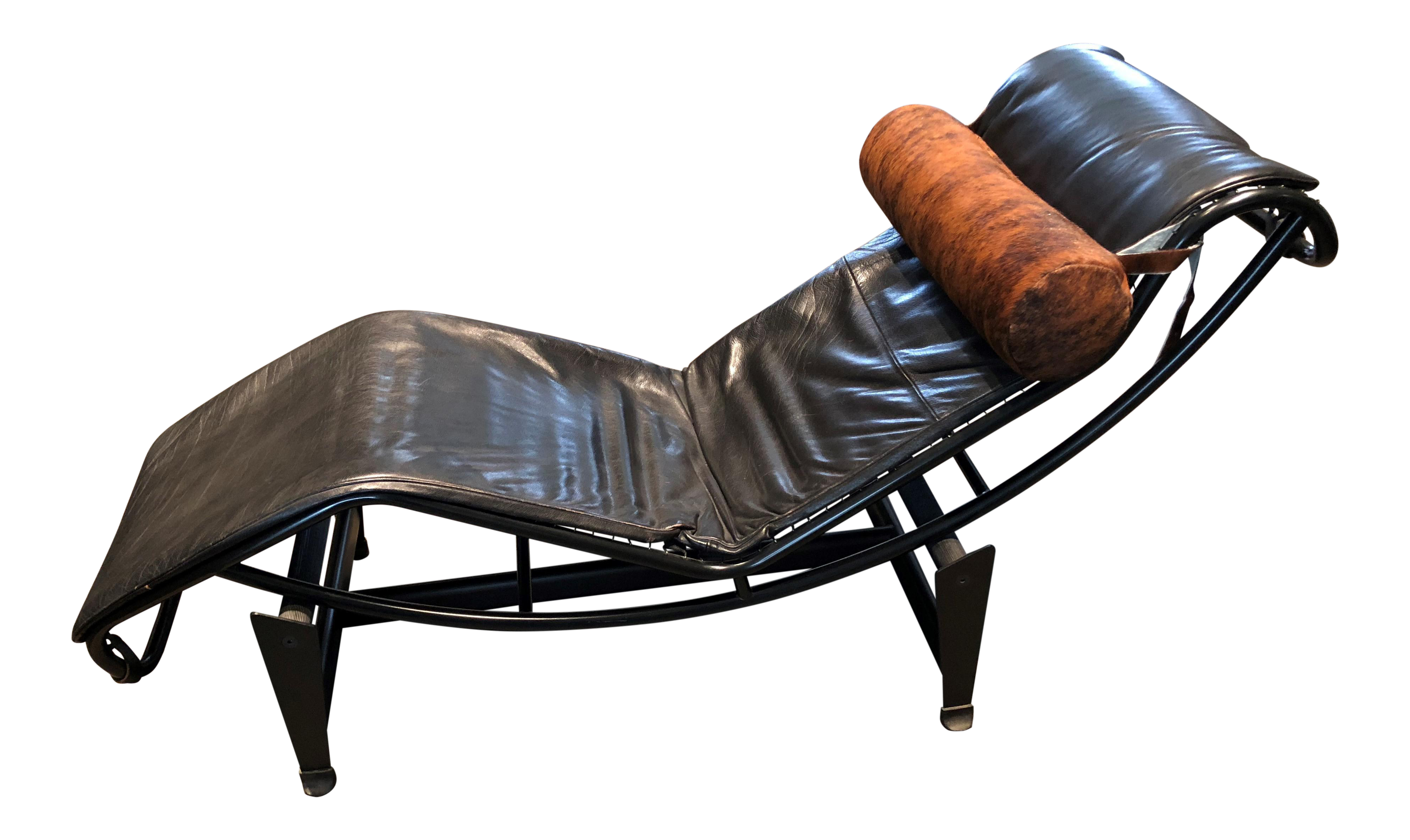 le chair w x leather corbusier chaise img l lounge products replica black