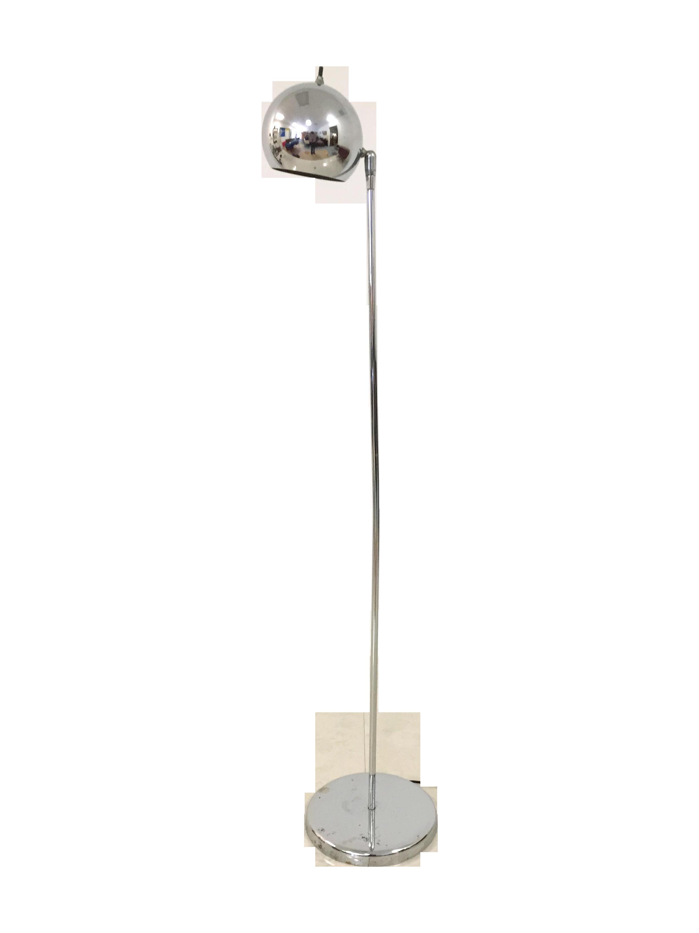 Vintage sonneman kovacs style chrome floor lamp chairish aloadofball Images