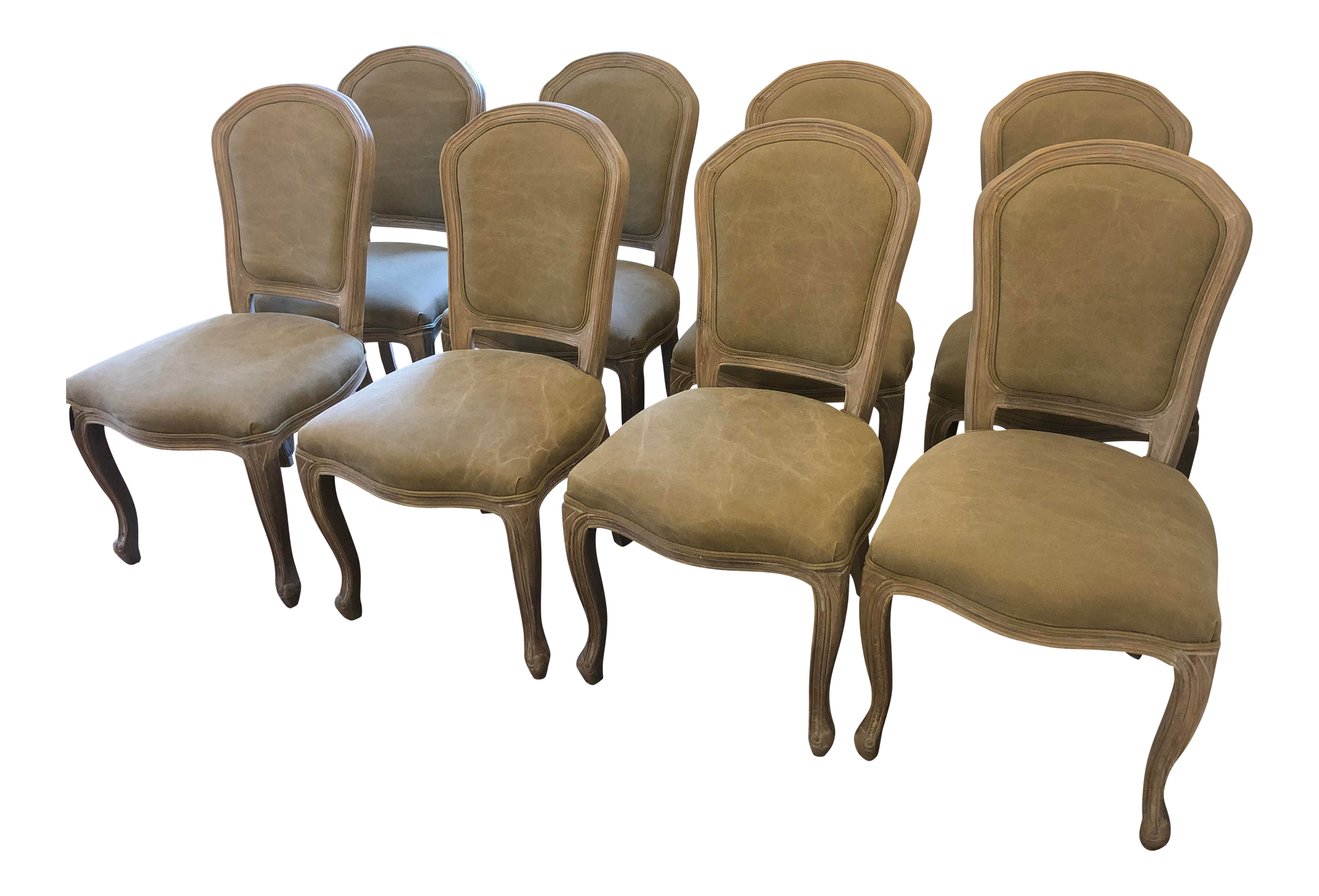 Modern h d buttercup french green dining chairs set of 8 chairish