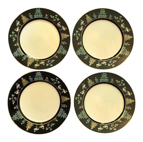 sc 1 st  Chairish & Fitz and Floyd Chinoiserie Dinner Plates - Set of 4   Chairish