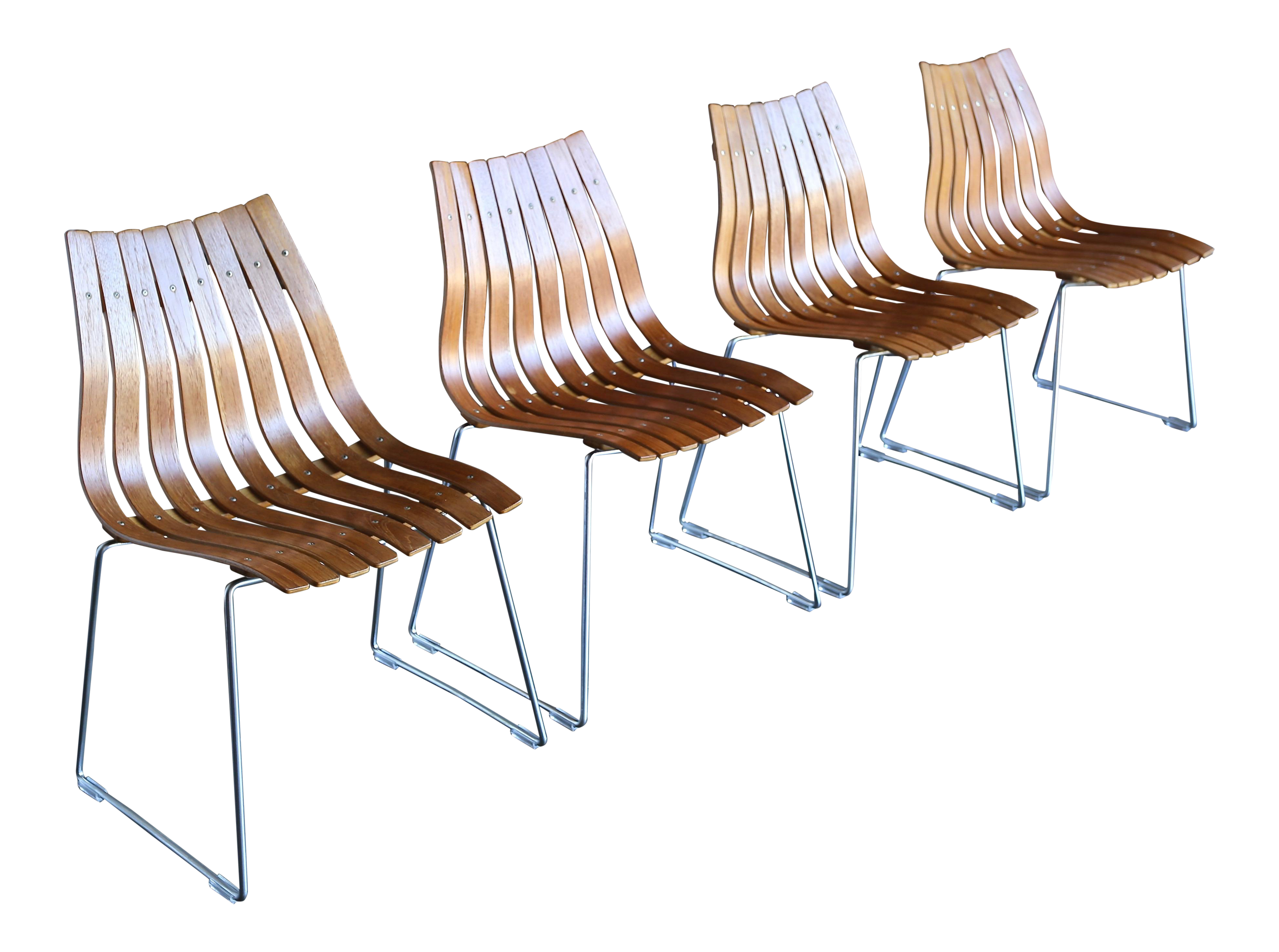 Luxury 1960s Hans Brattrud Scandia for Hove Mobler Dining Chairs