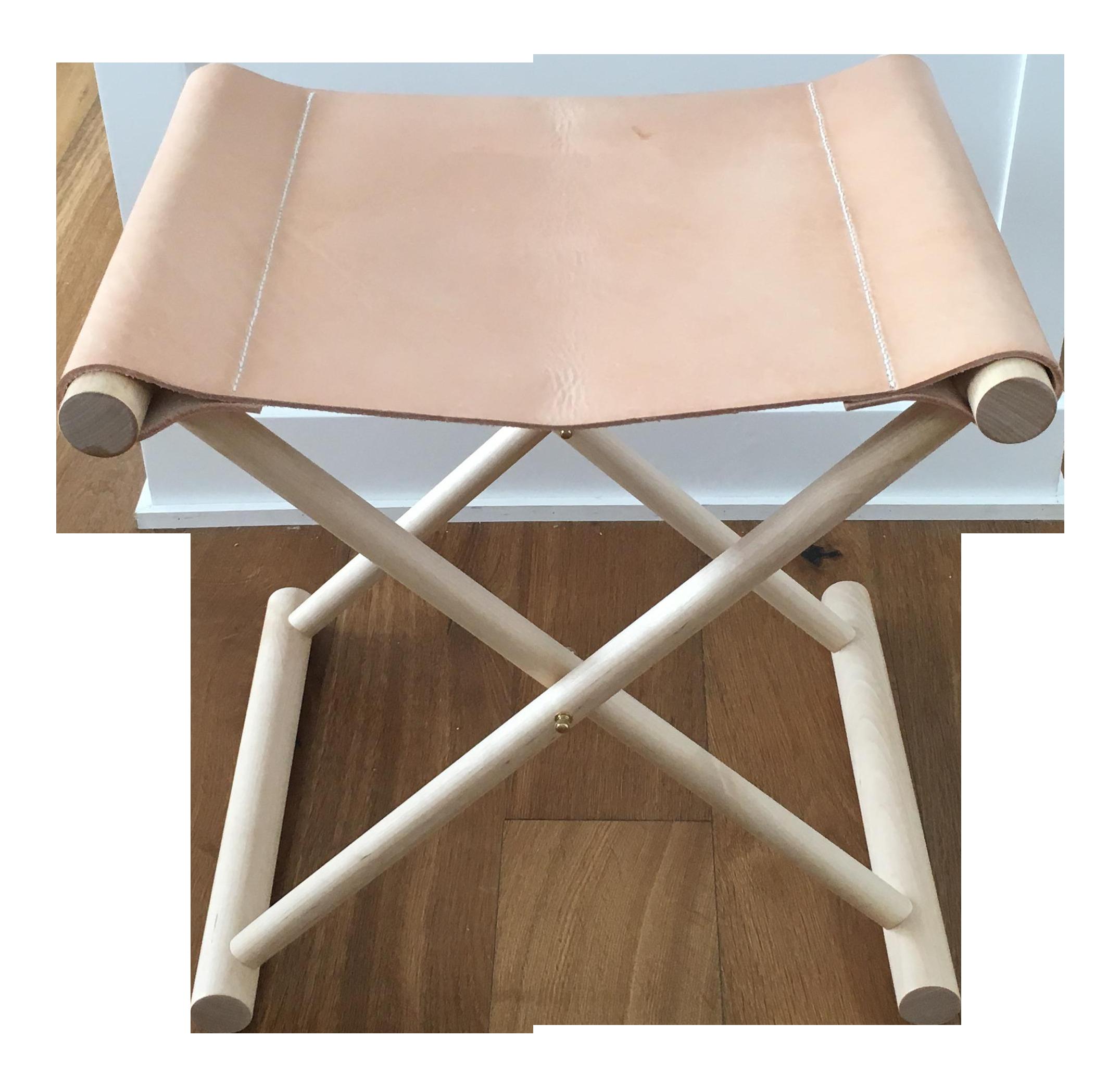 Directors Leather Folding Stool Chairish