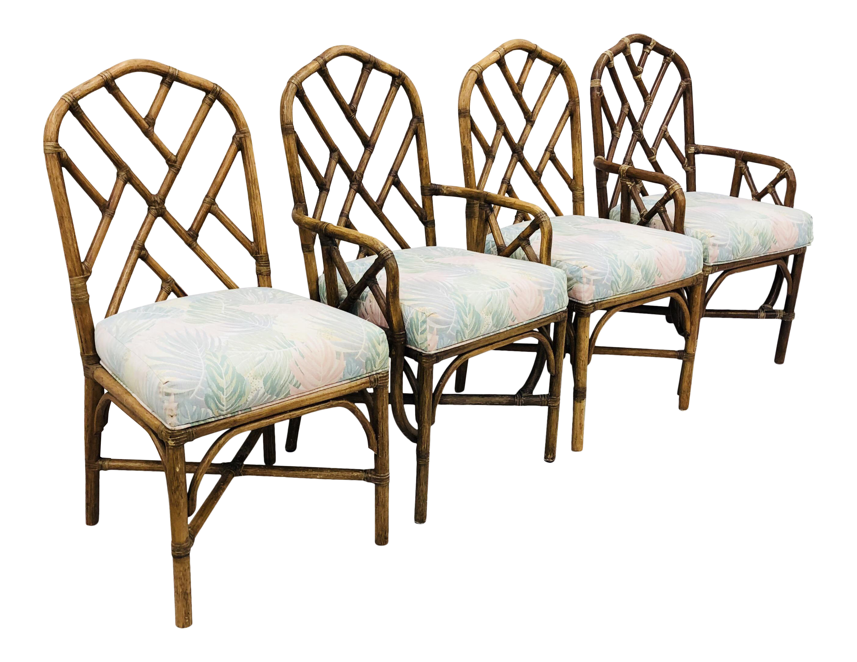 Vintage Chinese Chippendale Chairs Chairish