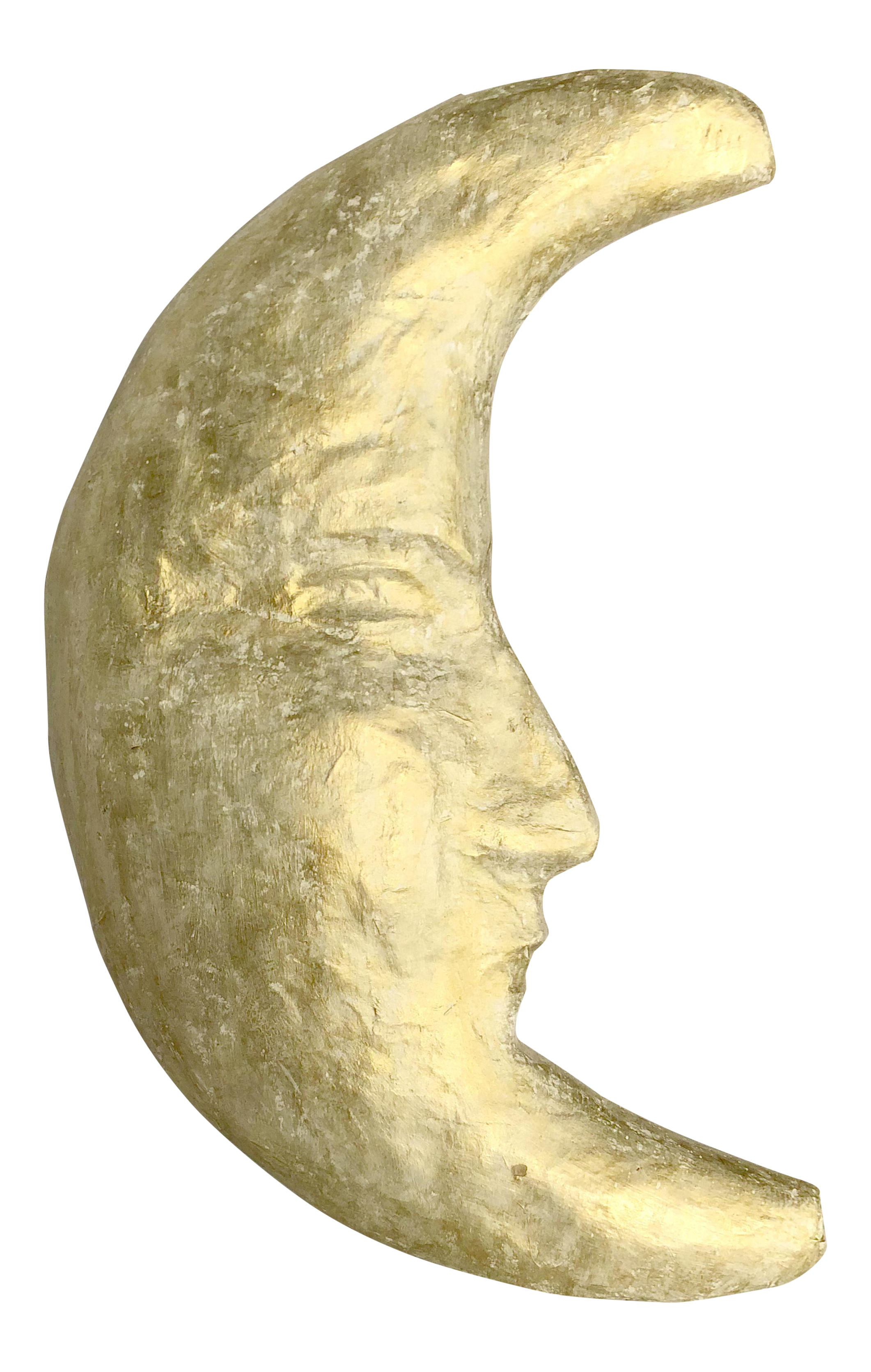 Handmade Papier-mâché Moon | Chairish