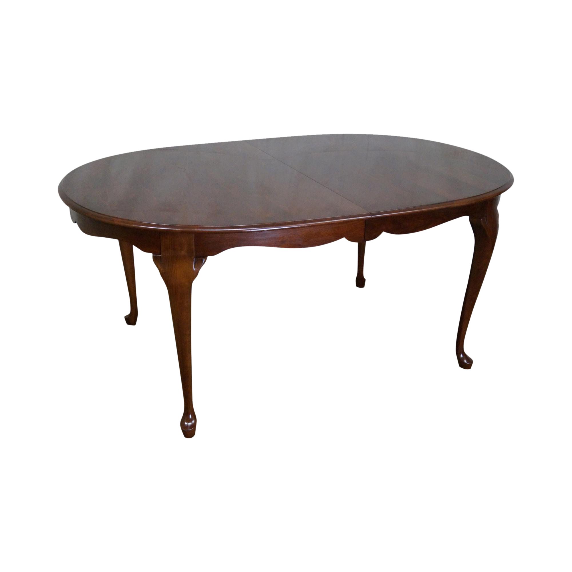 Pennsylvania House Solid Cherry Oval Queen Anne Dining Table