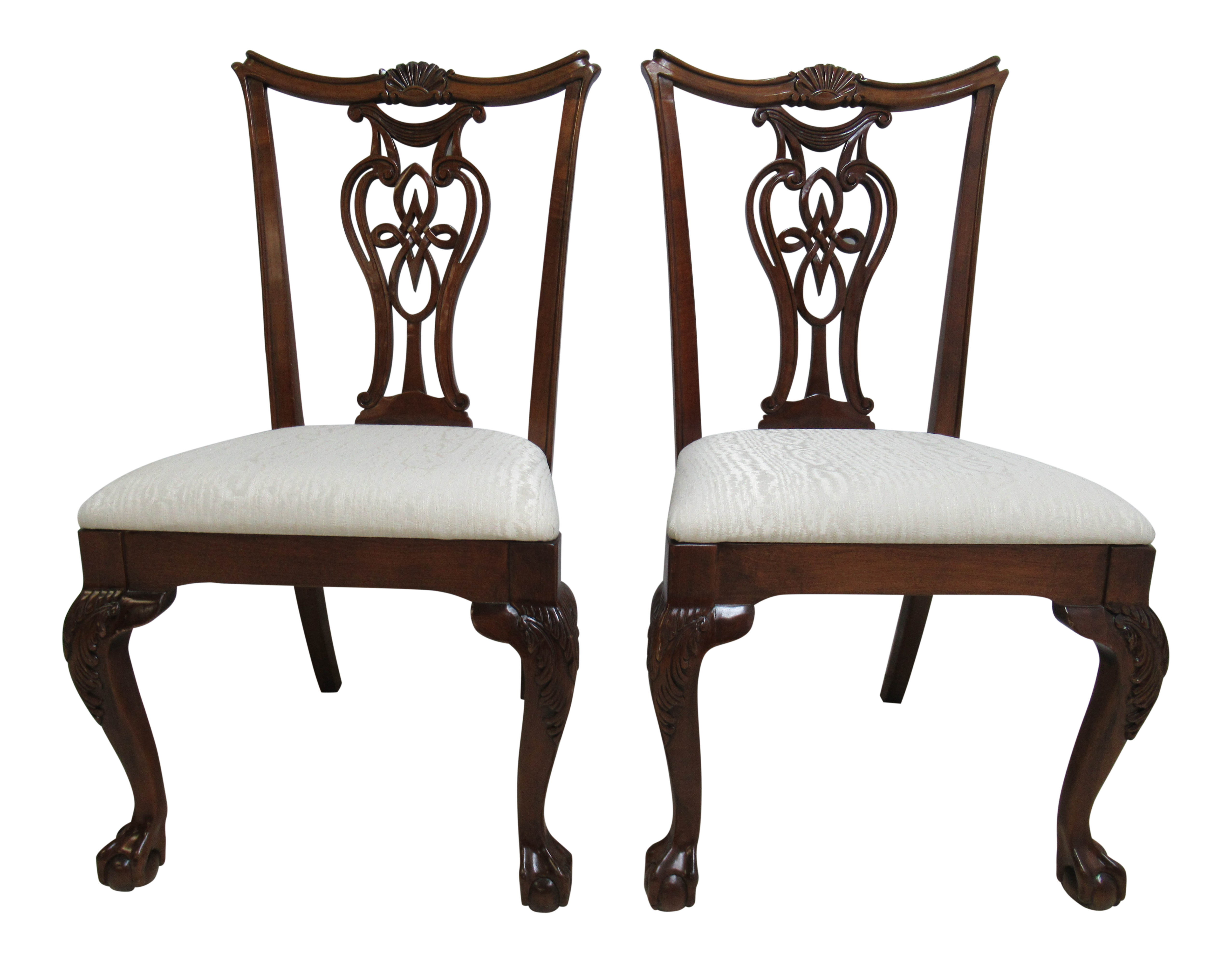 2000s modern pennsylvania house ball claw chippendale dining room side chairs a pair chairish