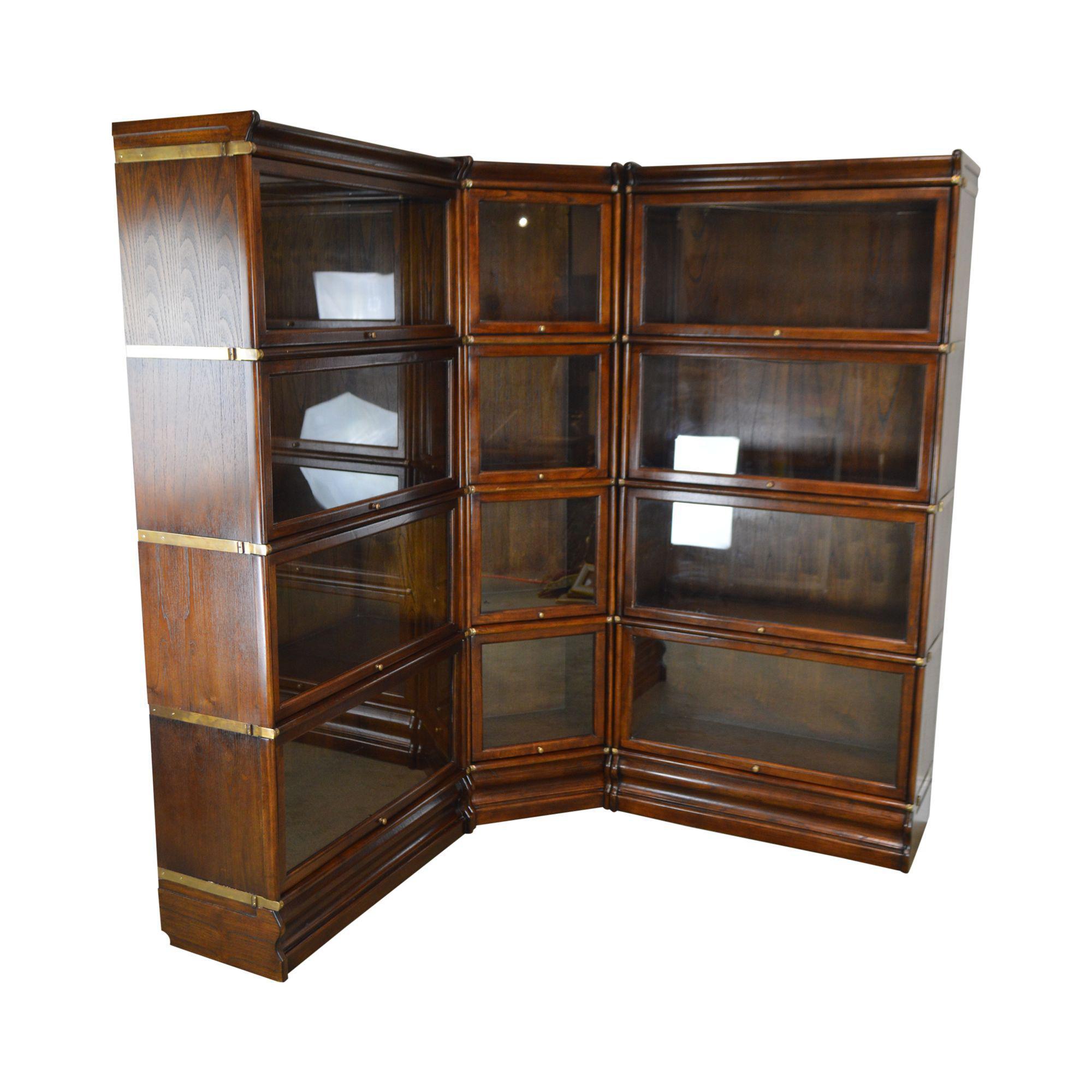 Globe Wernicke 12 Section Corner Stacking Bookcase Unit