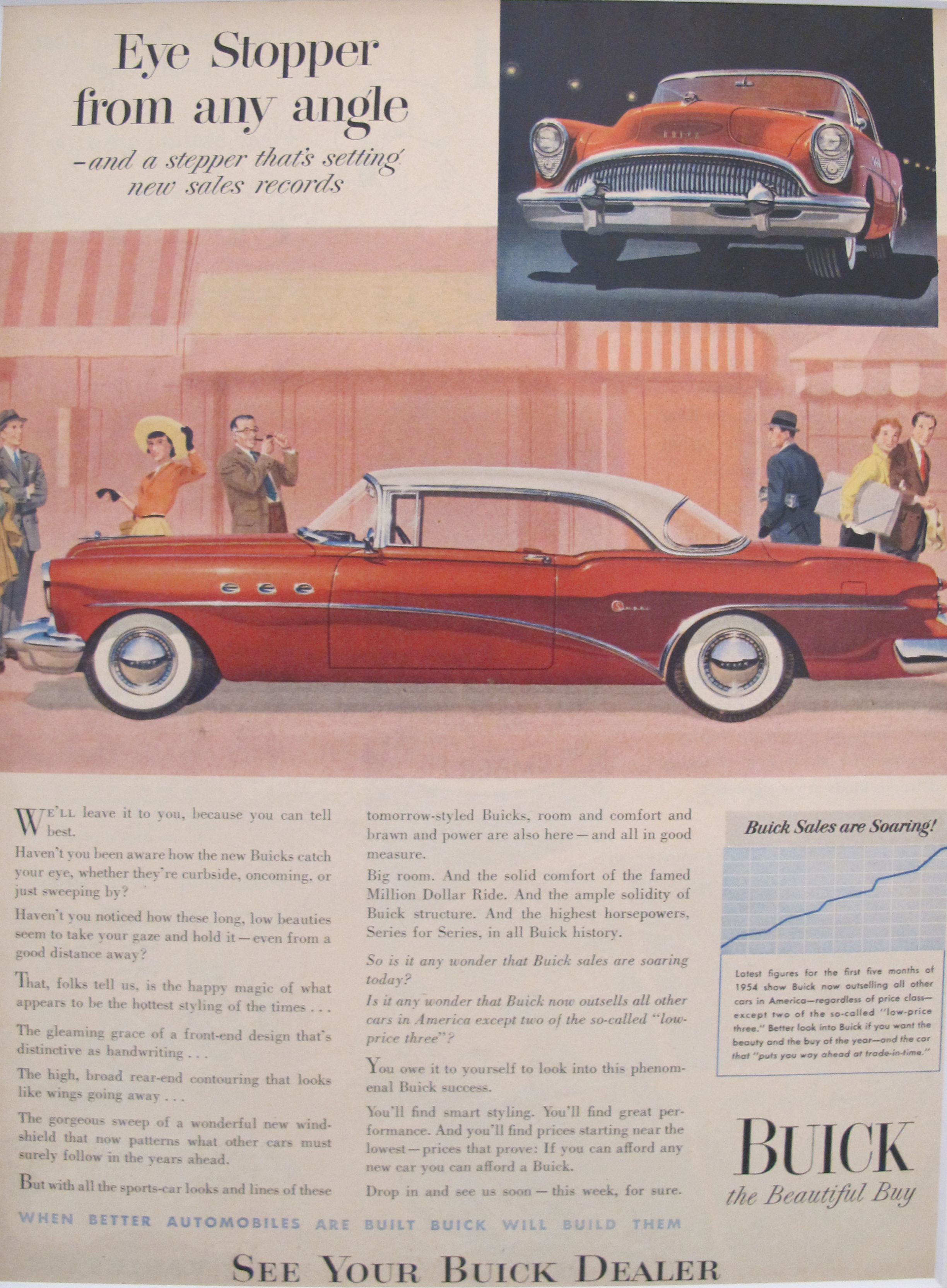 Matted 1950s Buick Car Ad Chairish