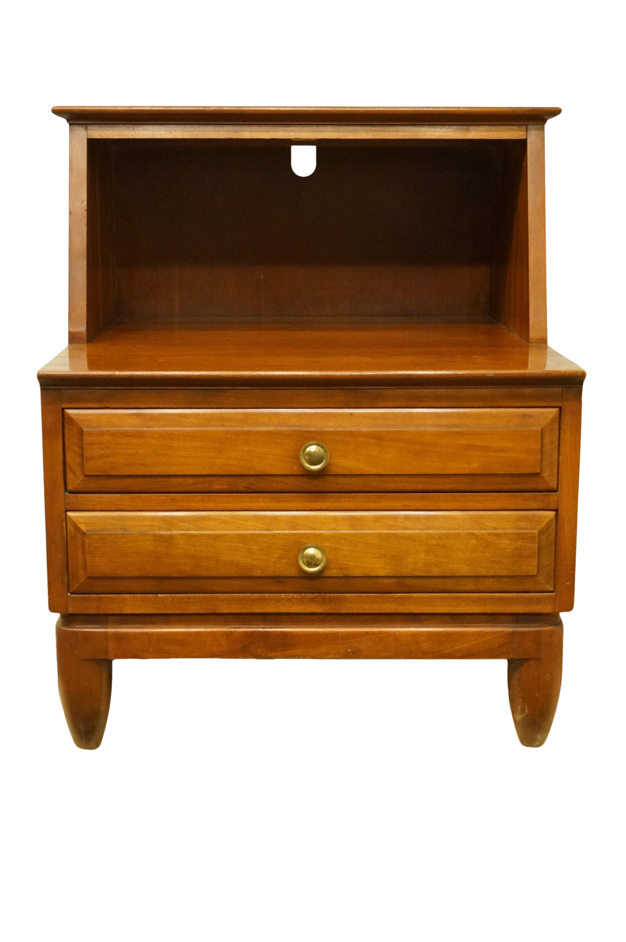 20th Century Traditional Willett Furniture Solid Cherry 22 Open Cabinet Nightstand