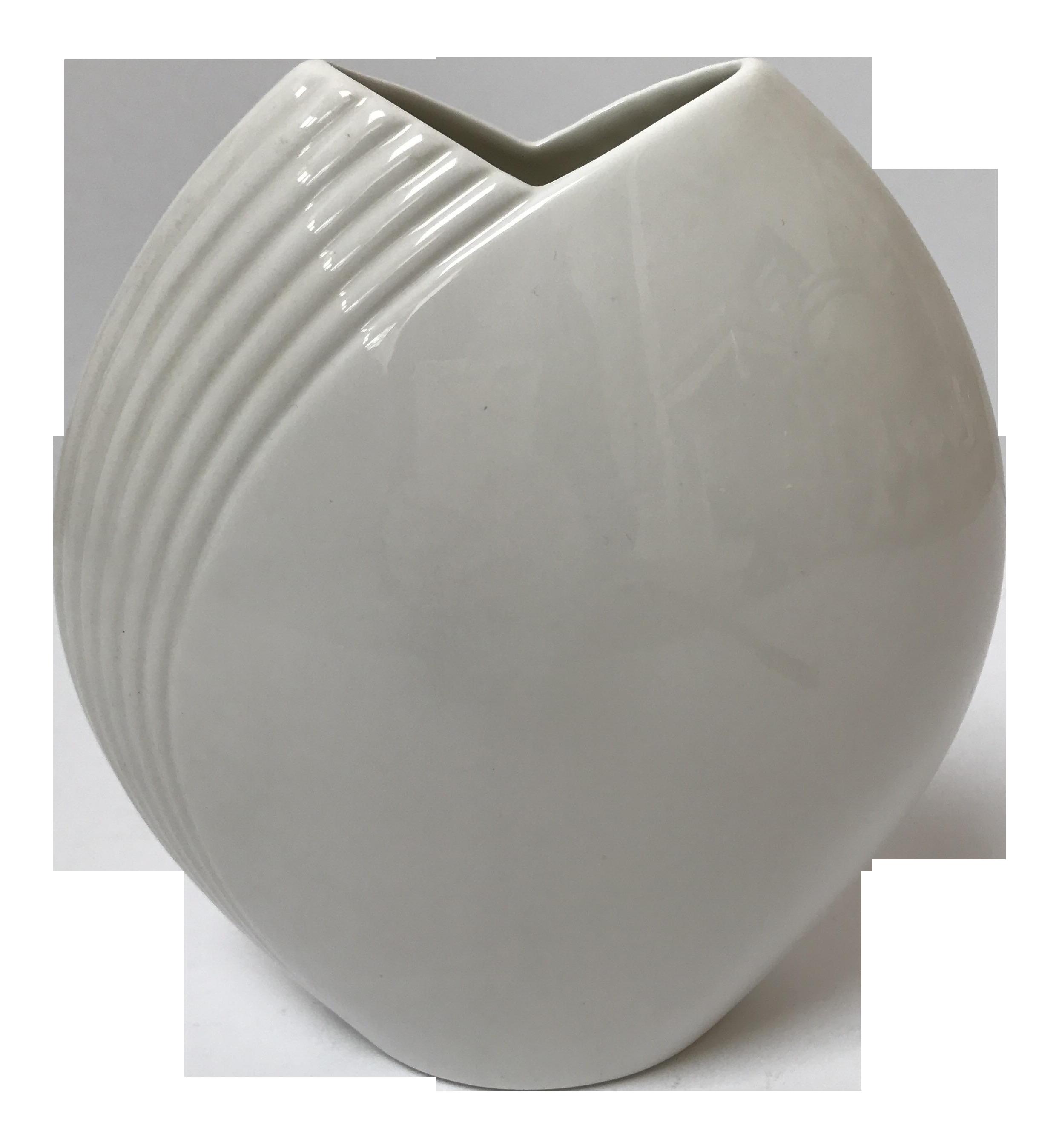 Modern contemporary white vase by christopher stuart chairish reviewsmspy