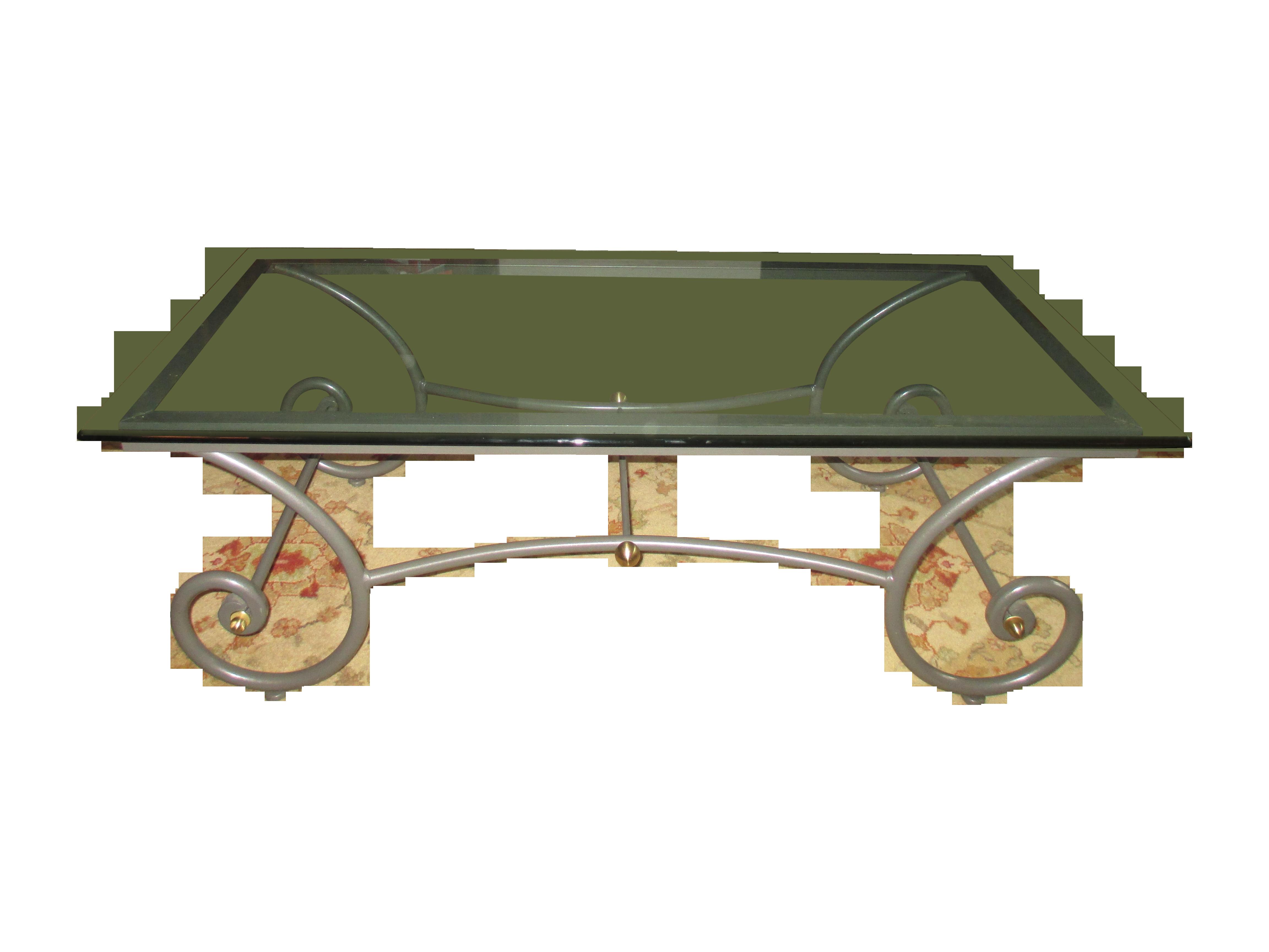 Charleston Forge Glass Coffee Table Chairish