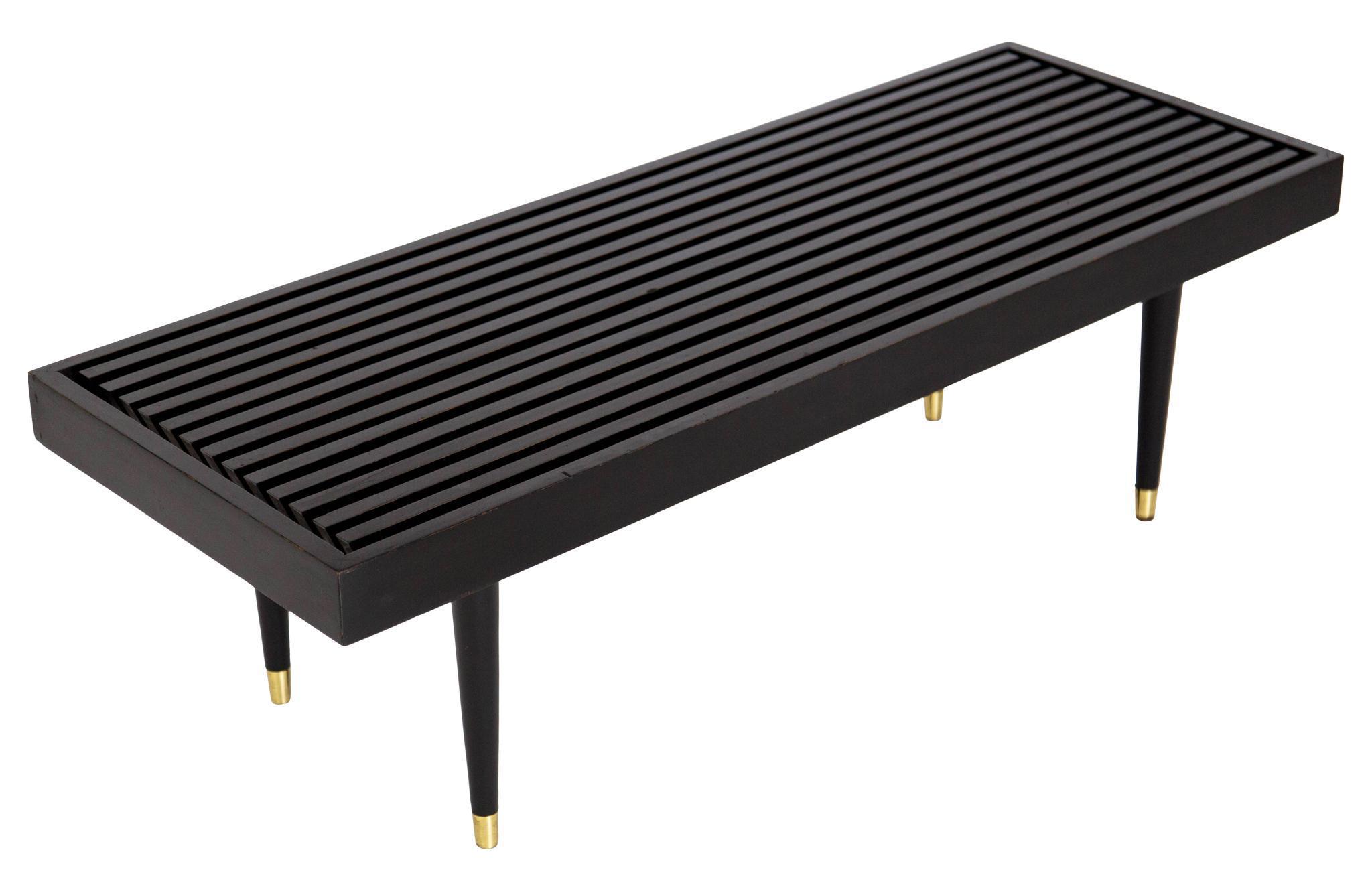 Mid Century Slat Bench Coffee Table