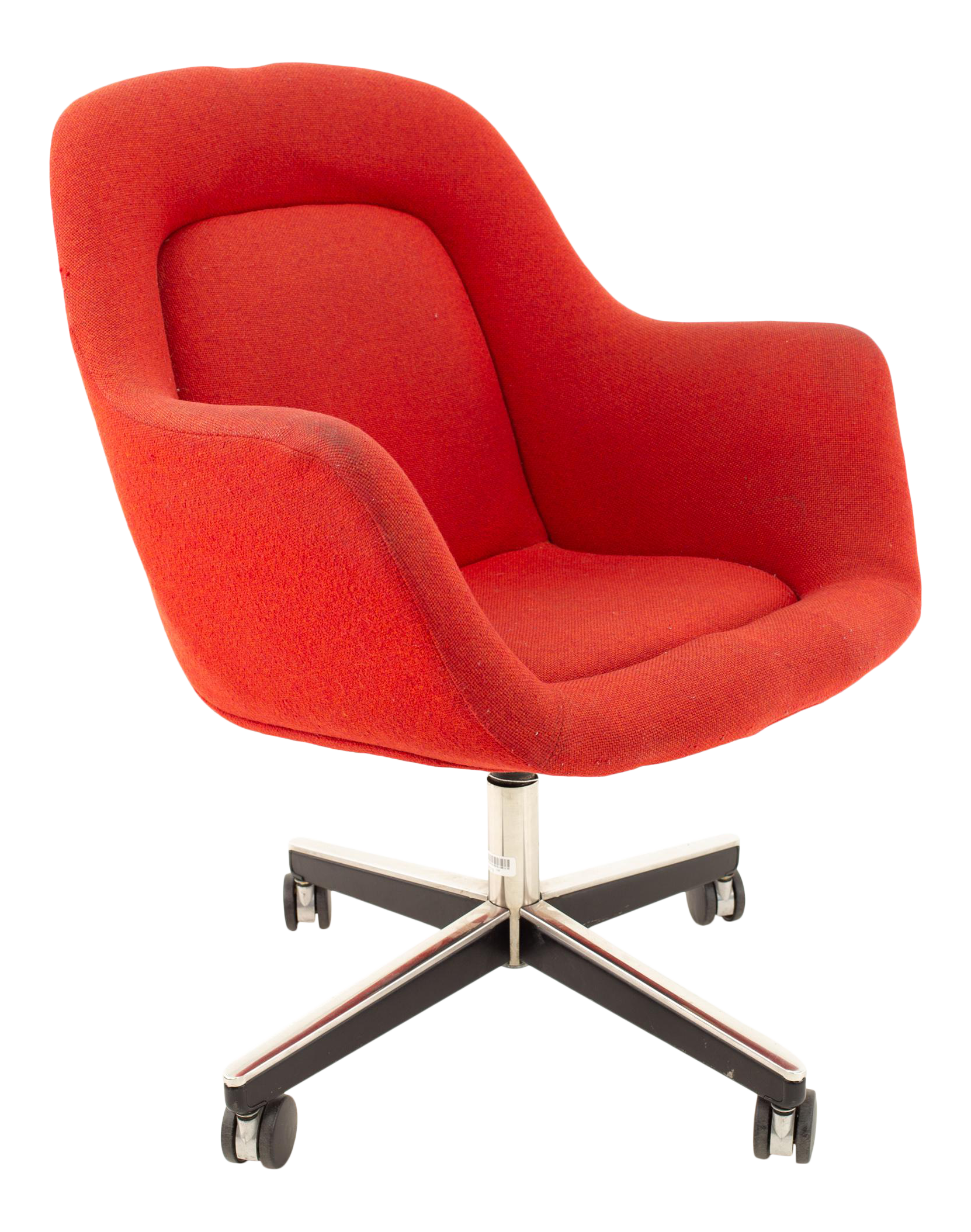 Max Pearson For Knoll Mid Century Red Upholstered Office Desk Chair Chairish