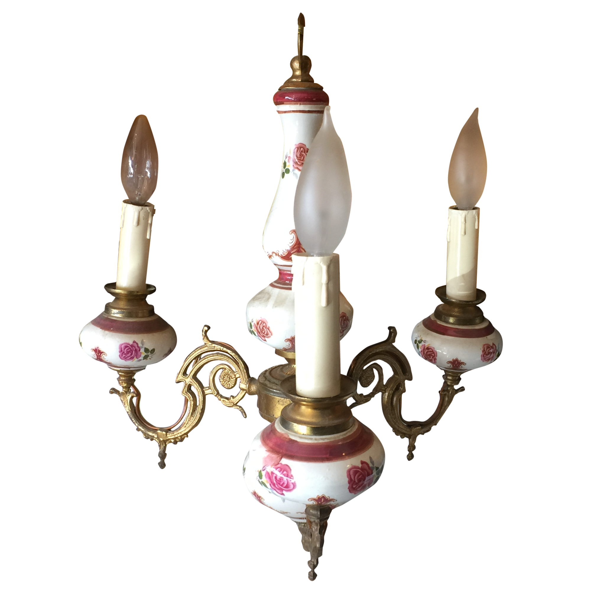 1950s french hand painted porcelain chandelier chairish arubaitofo Images