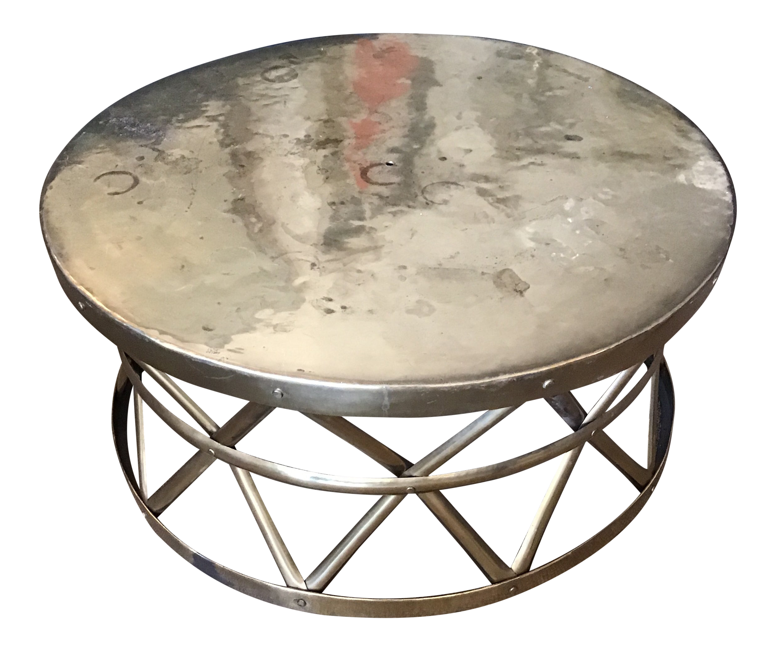 Brass Drum Cocktail Table Chairish