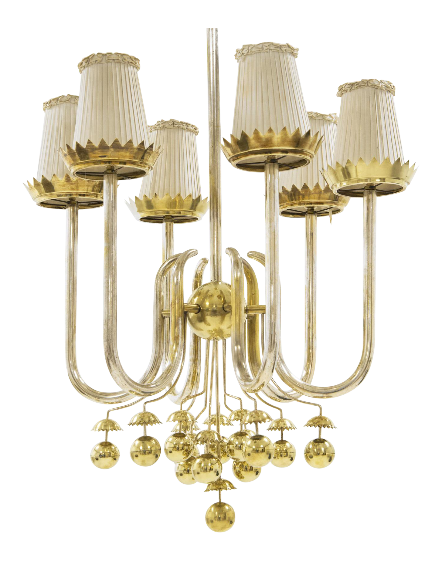 Exceptional Pietro Chiesa  Important Italian Ceiling Light In Brass