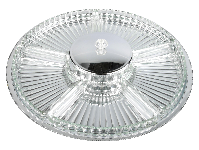 Steel Crystal Serving Platter Chairish