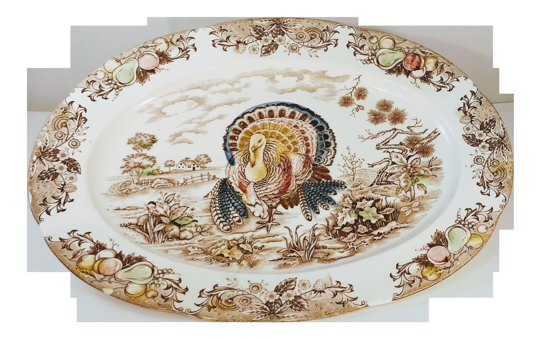 Vintage Transferware Xl Turkey Platter Chairish