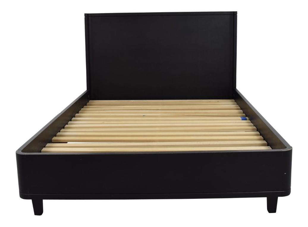 Solid wood queen modern deco bedframe chairish