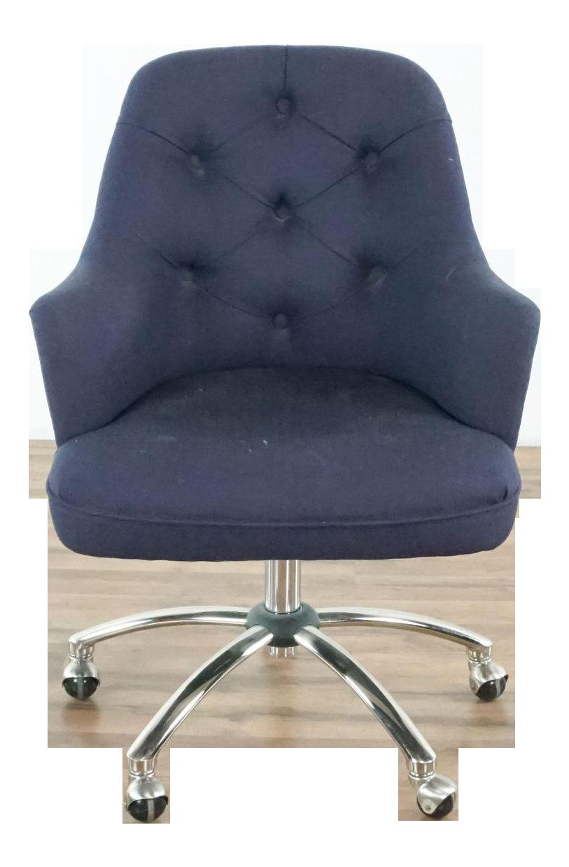 Pottery Barn Gray Upholstered Desk Chair Chairish