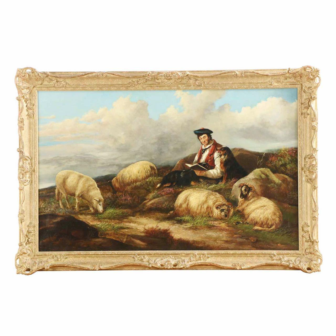"""Source Extra Kitchen Scraps For Backyard Flocks: James Charles Morris Painting: """"Shepherd With Flock"""