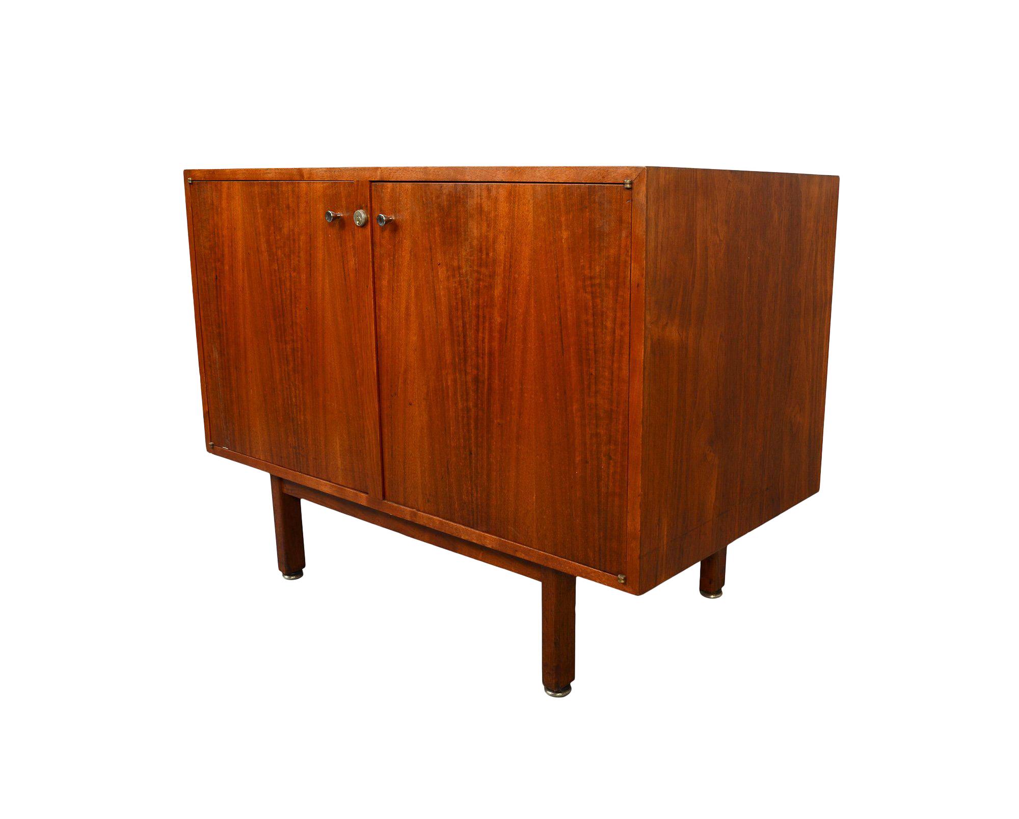 1960s mid century modern walnut bar cabinet credenza entertainment unit chairish