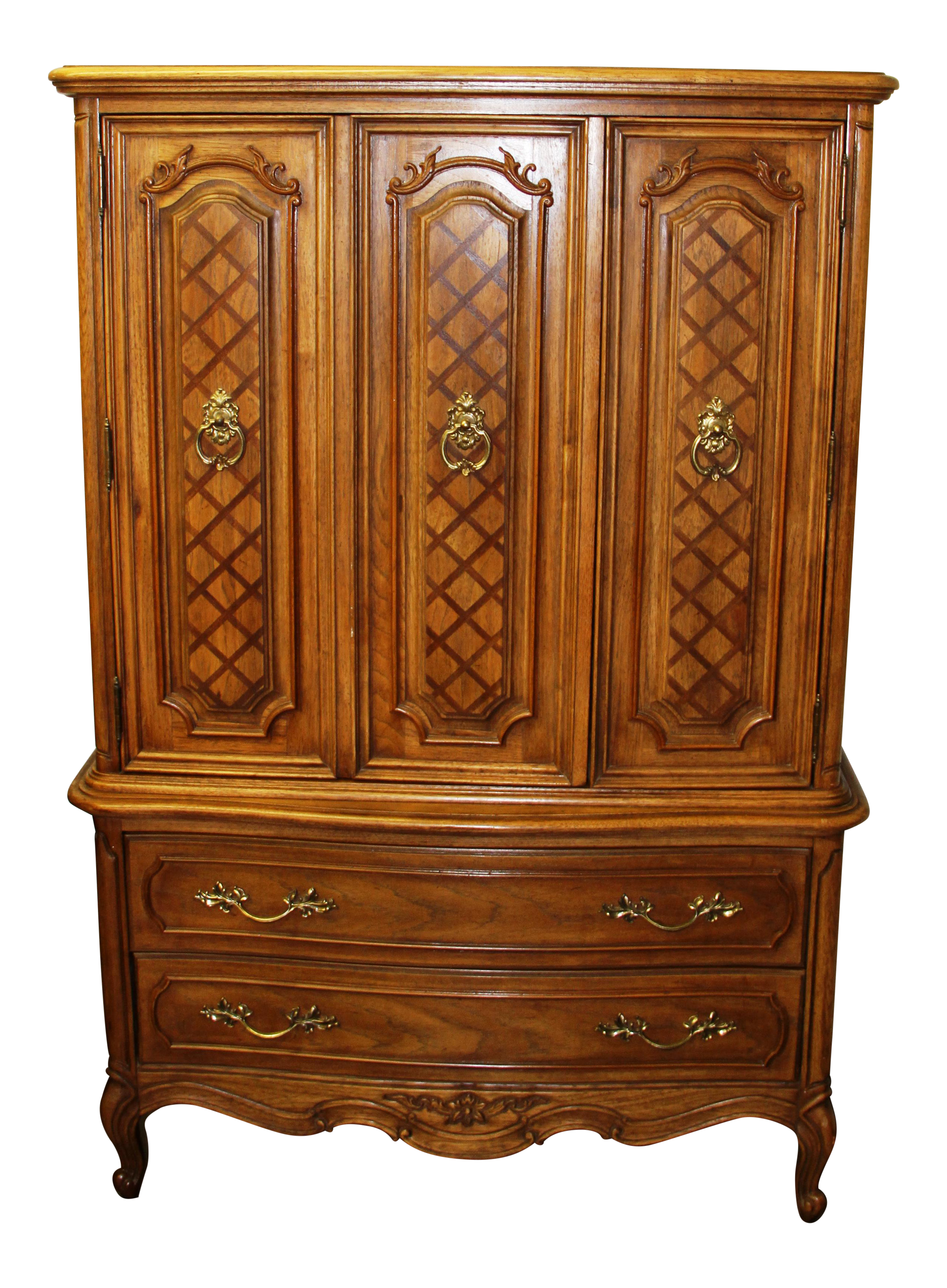 Vintage Thomasville French Court Solid Wood Bedroom Dresser Tall Chest Of Drawers Chairish
