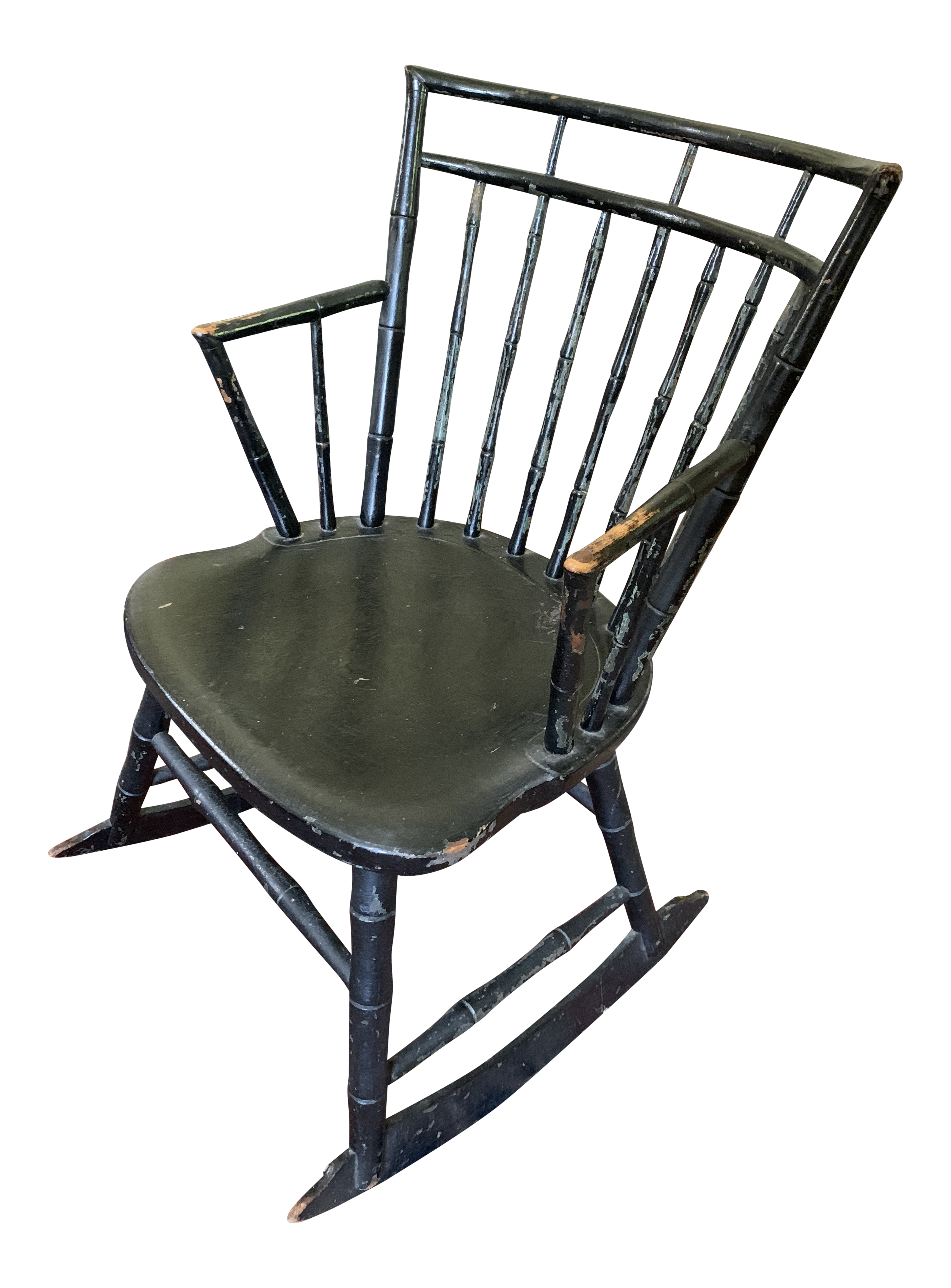 Fine 18Th Century Antique Small Windsor Rocking Chair Squirreltailoven Fun Painted Chair Ideas Images Squirreltailovenorg