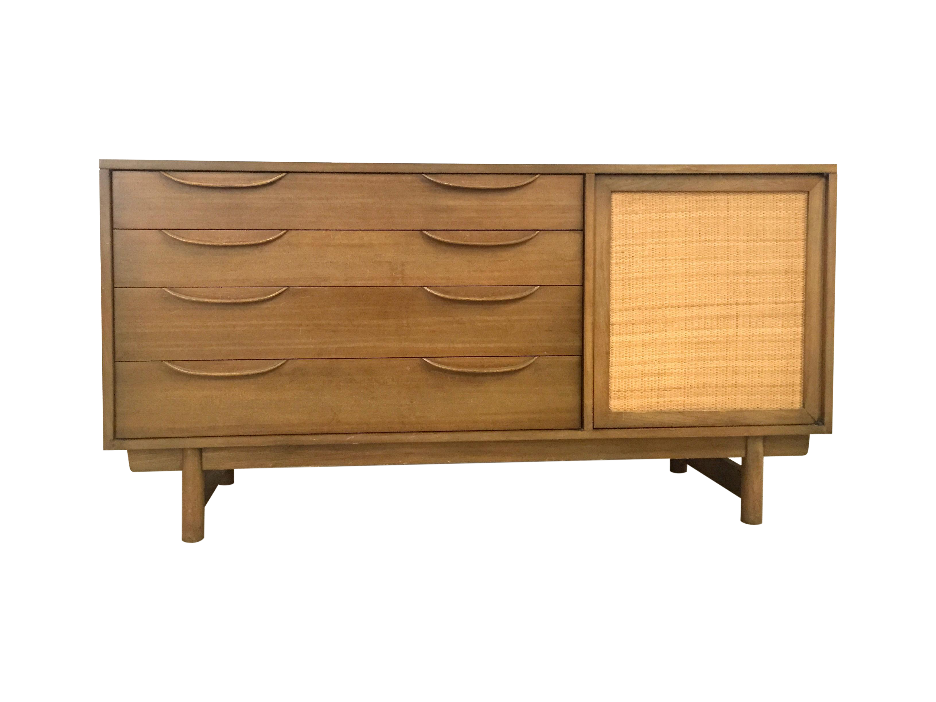 Lawrence Peabody Mid Century Oak Credenza Chairish