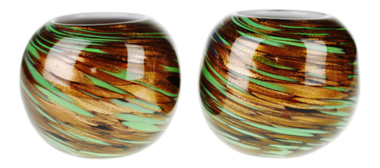 Hand blown art glass votive candle holders a pair chairish for Kitchen cabinet trends 2018 combined with hand blown glass wall art