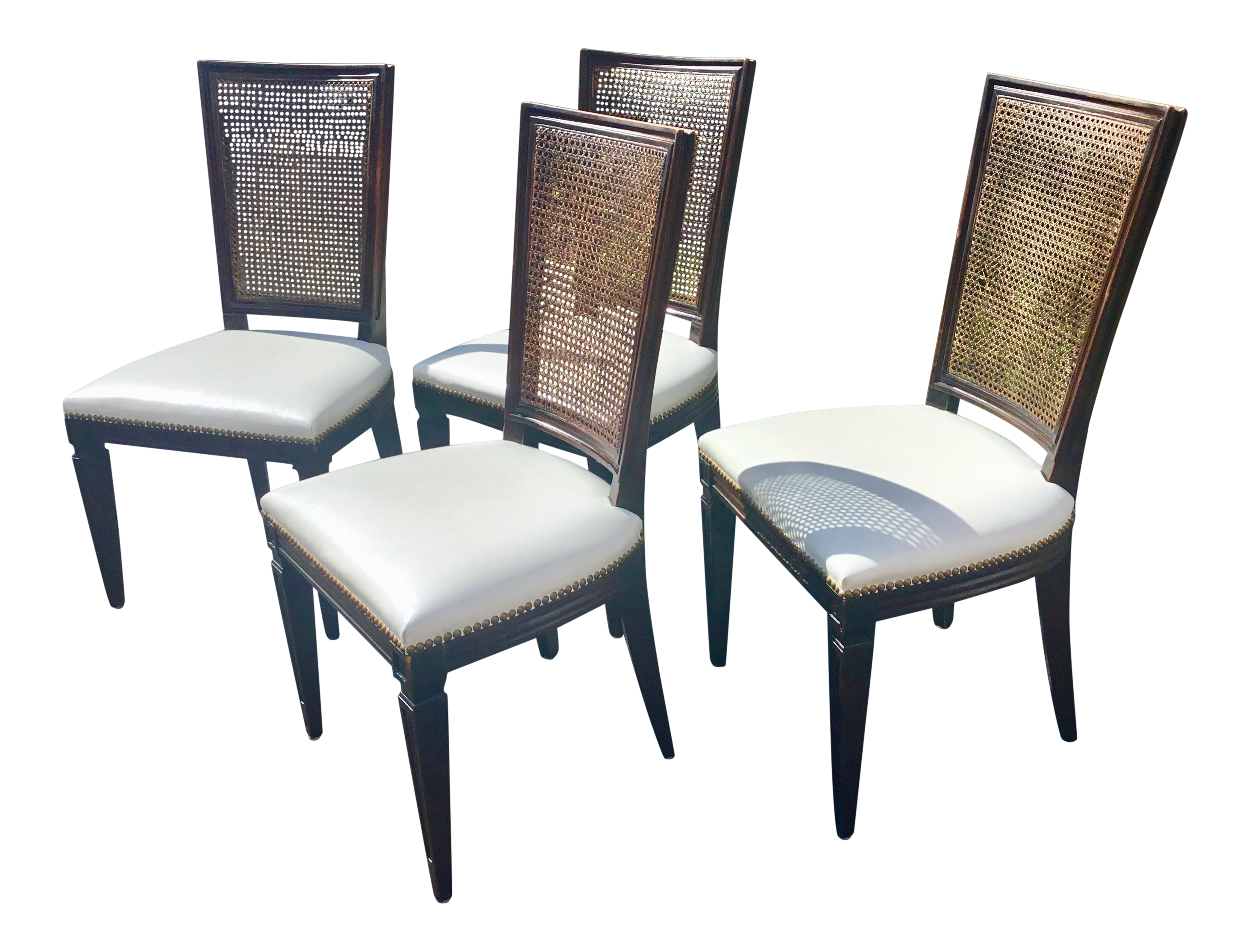 Prime Vintage Mid Century Directoire Style Dining Chairs Set Of 4 Pabps2019 Chair Design Images Pabps2019Com