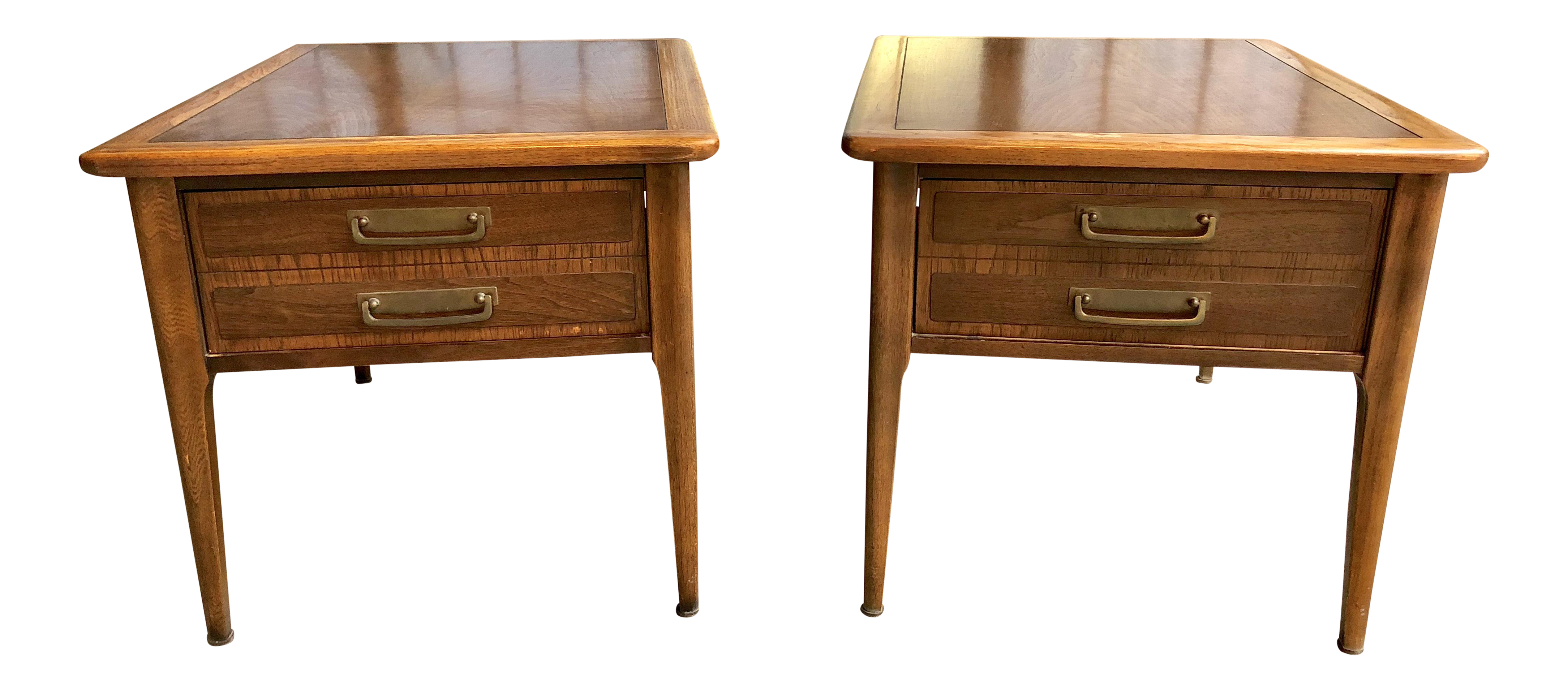 Etonnant Mid Century Modern Lane Cameo Nightstands Side Tables End Tables With  Drawers   Pair | Chairish