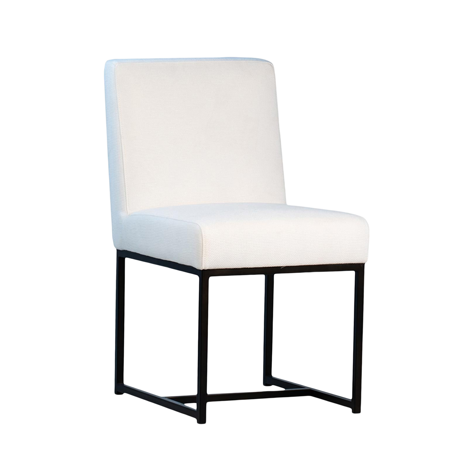 Modern White Linen Dining Chair Chairish, White Linen Dining Room Chairs