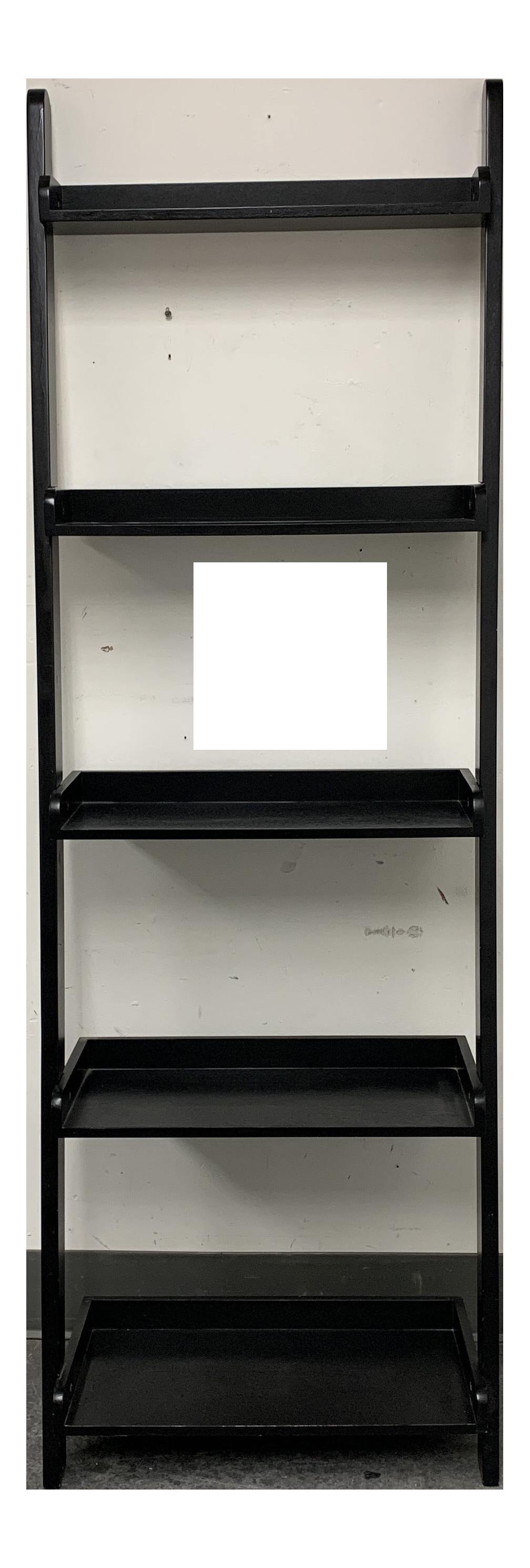 Crate Barrel Black Finished Ladder Bookcase