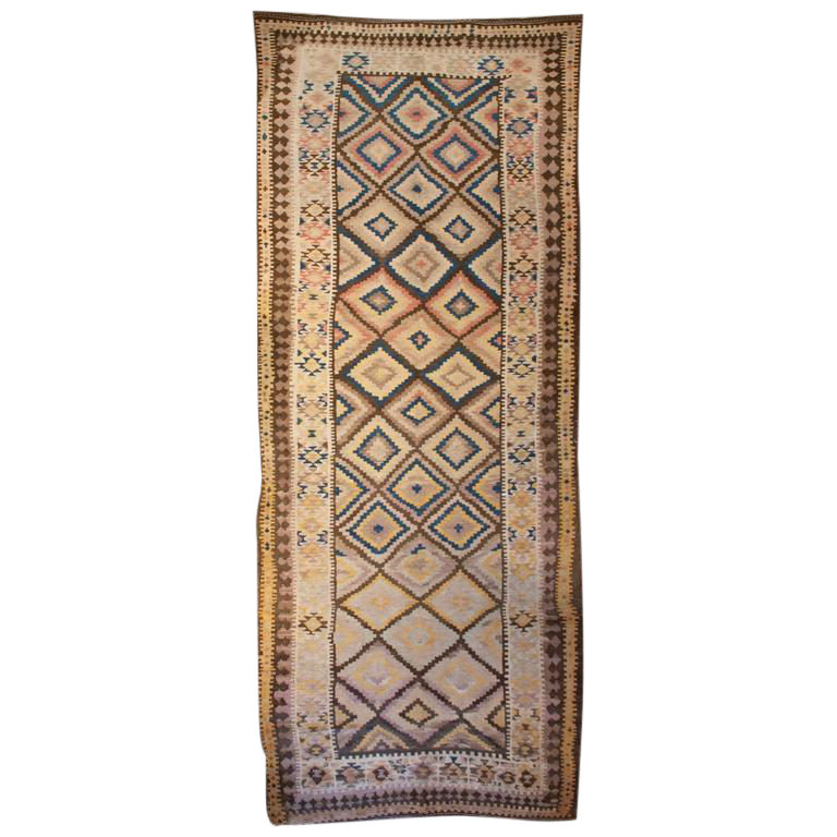 Early 20th Century Persian Shahsavan Kilim Runner 5