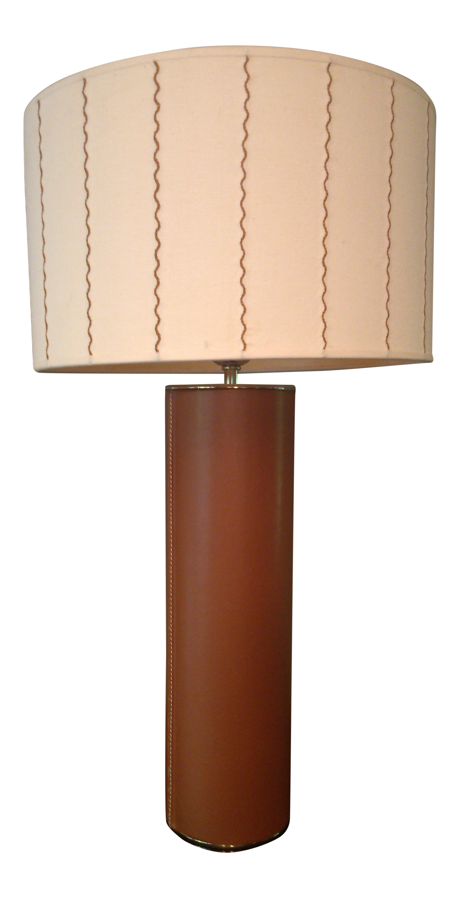 table lamp frederick base oval cooper leather shades stitched