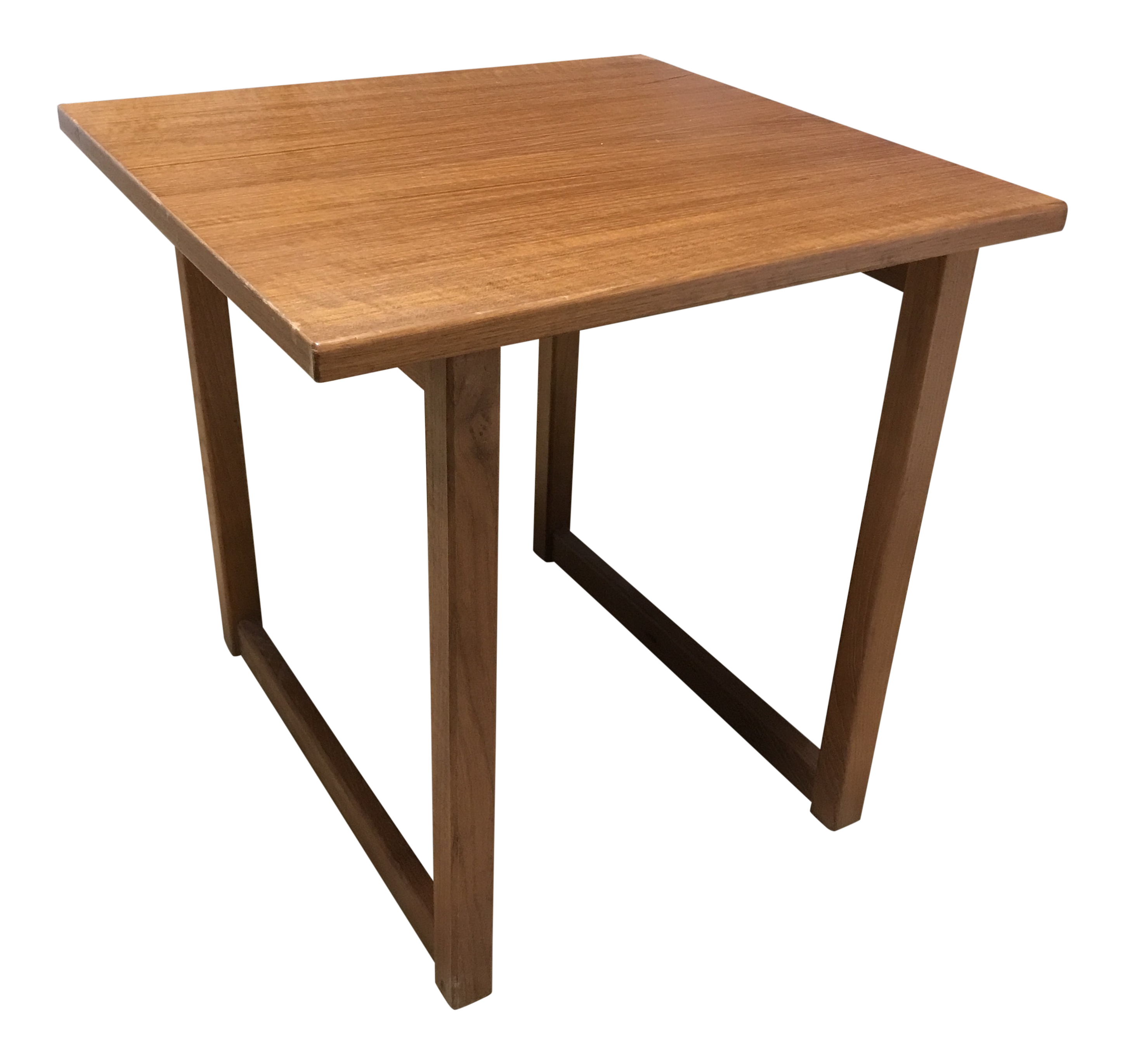 Image of: Mid Century Modern Danish Teak Side Table Chairish
