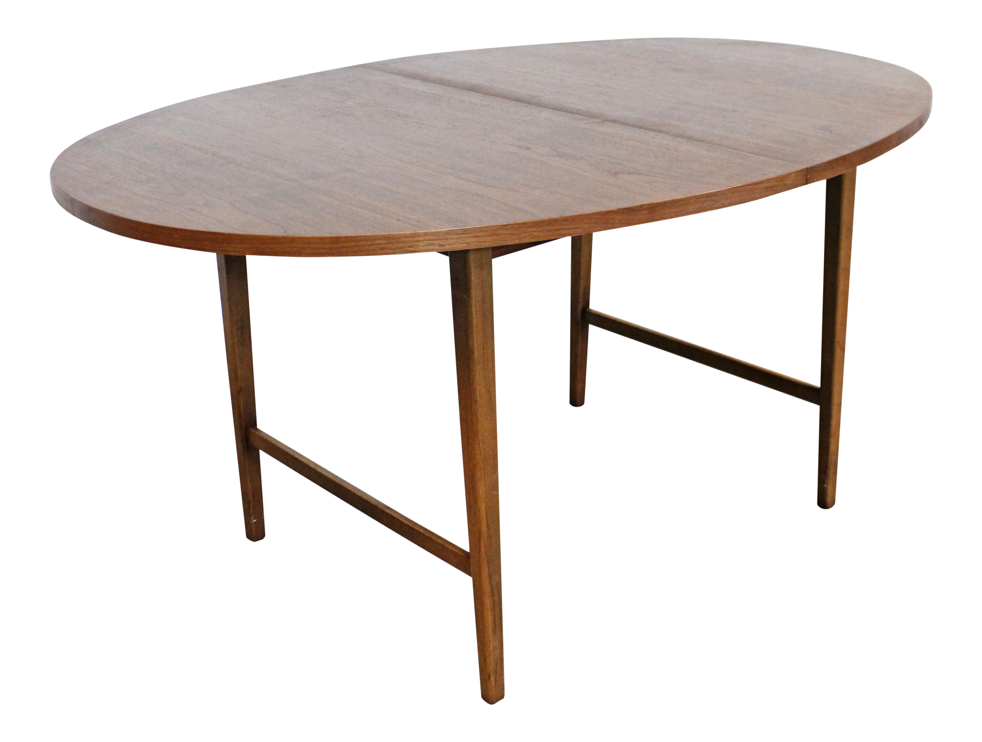Mid Century Modern Paul Mccobb Style Walnut Extendable Dining Table Chairish