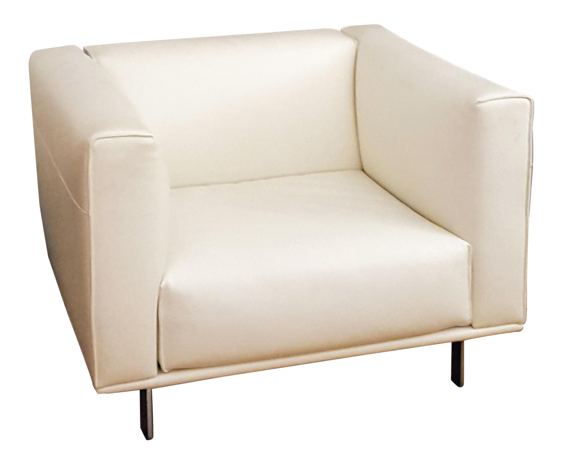 Modern Matthew Hilton Design Within Reach Bilsby Leather Armchair -