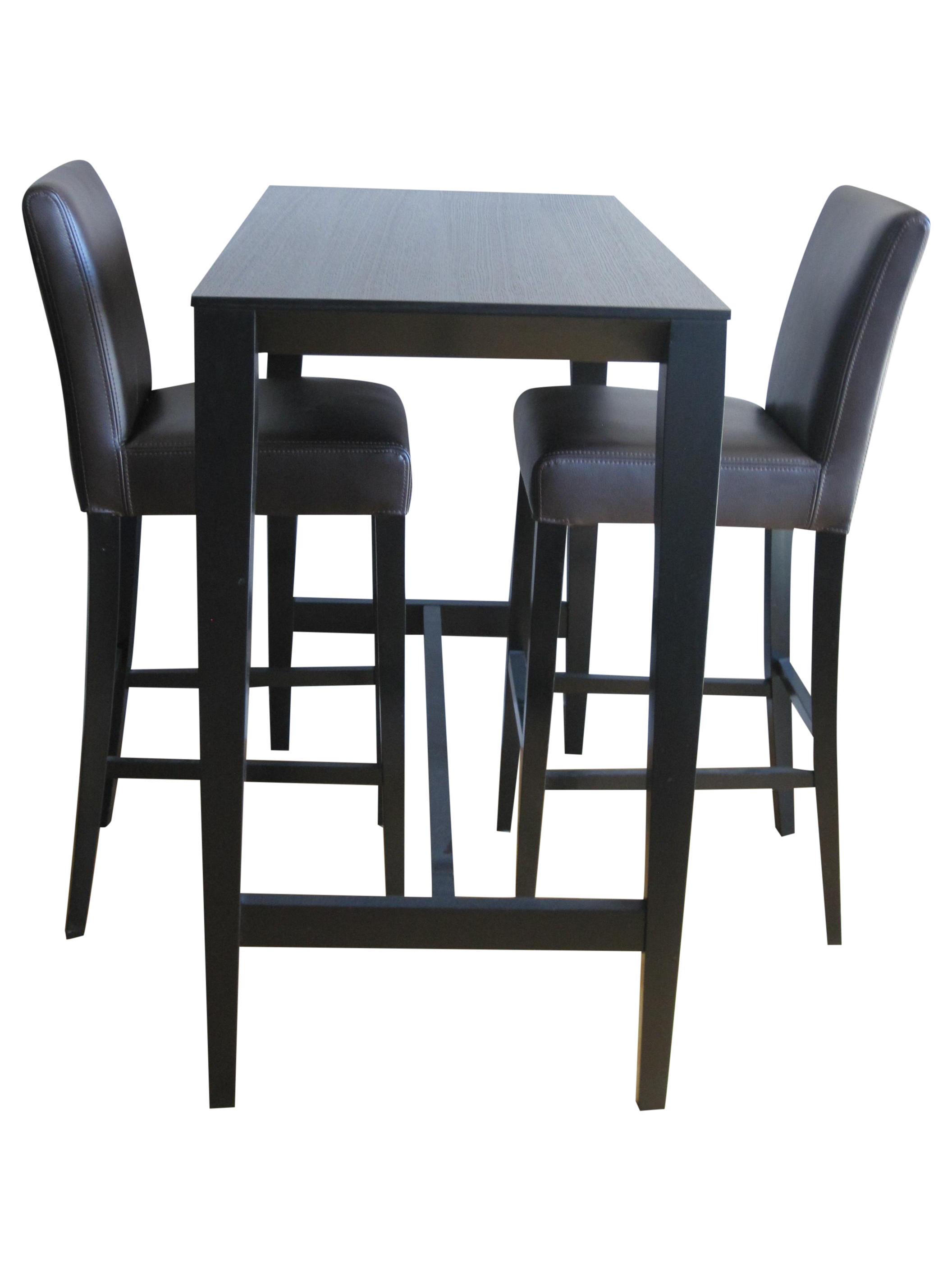Crate & Barrel Lowe Bar Chairs & Triad Table | Chairish